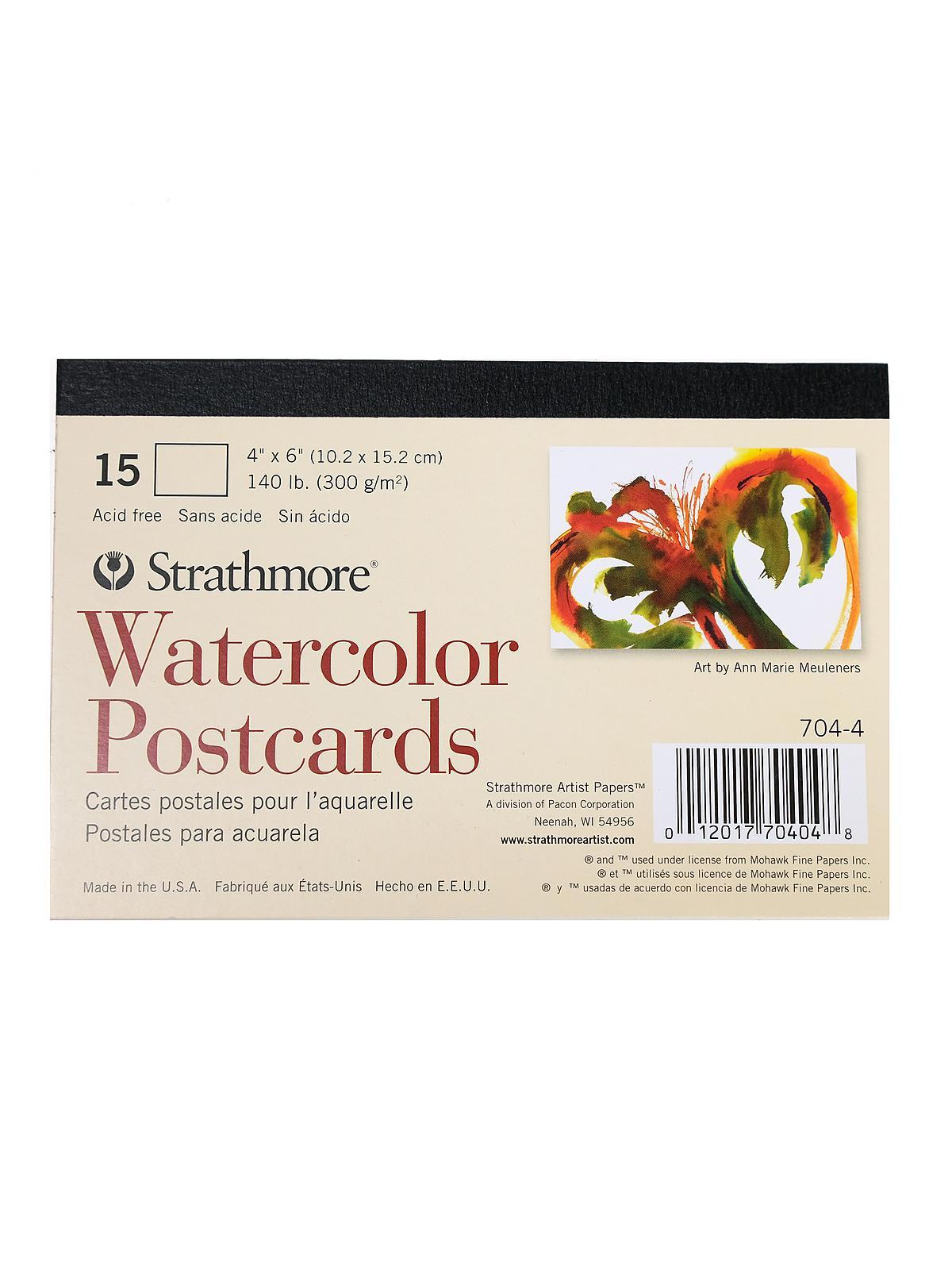 Blank Watercolor Postcards