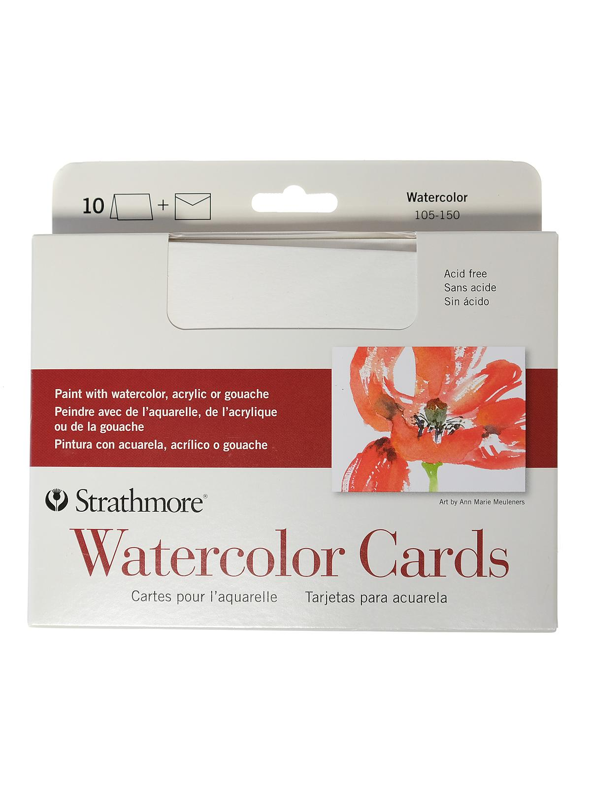 Watercolor Blank Greeting Card