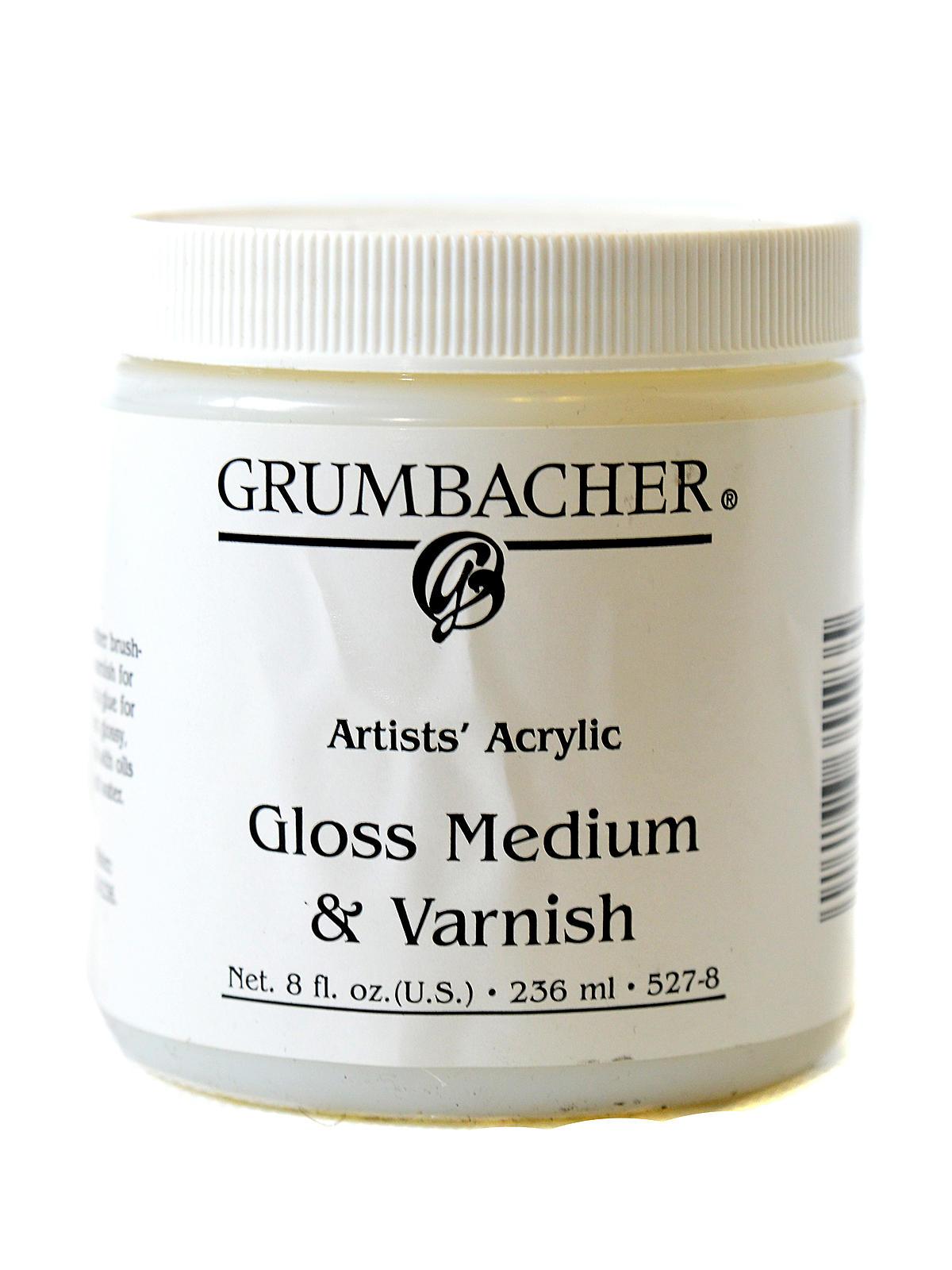 Grumbacher acrylic gloss medium varnish for Gloss medium for acrylic painting