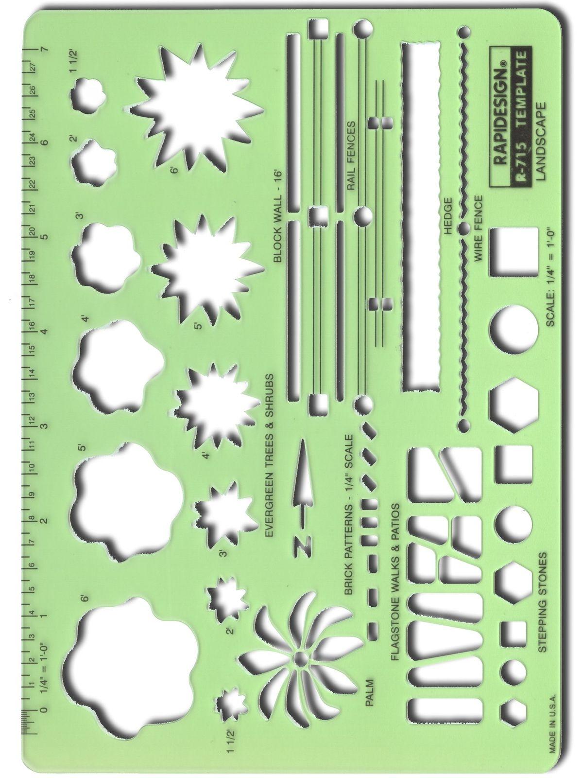 rapidesign landscape drafting and design template misterart com