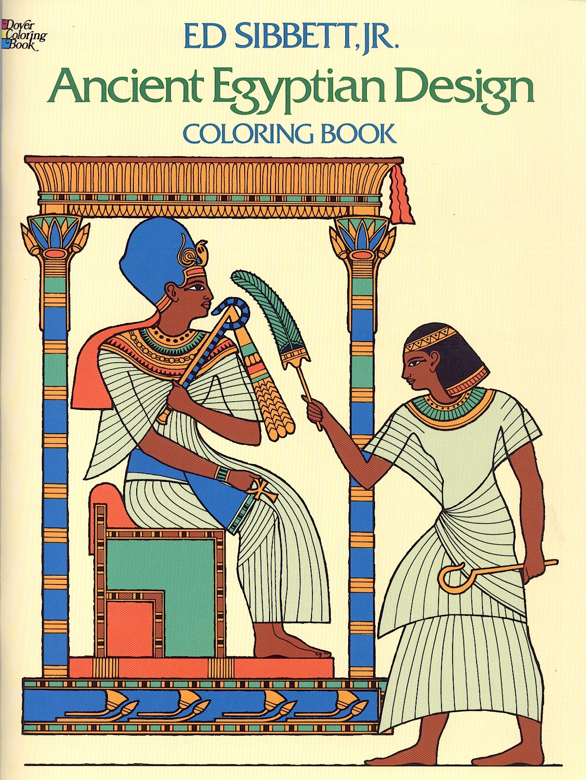 Ancient Egypt Designs-Coloring Book