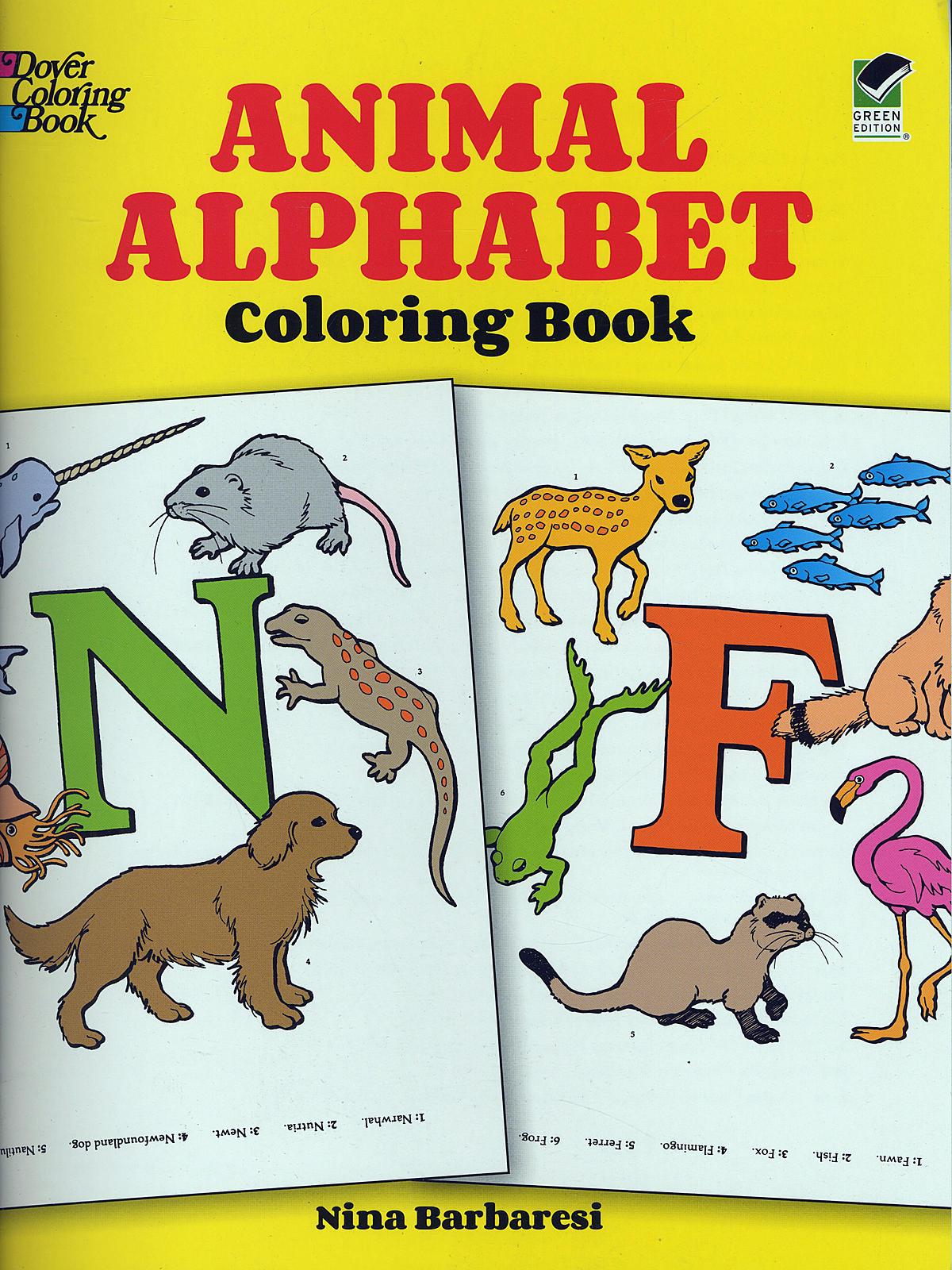 Animal Alphabet-Coloring Book