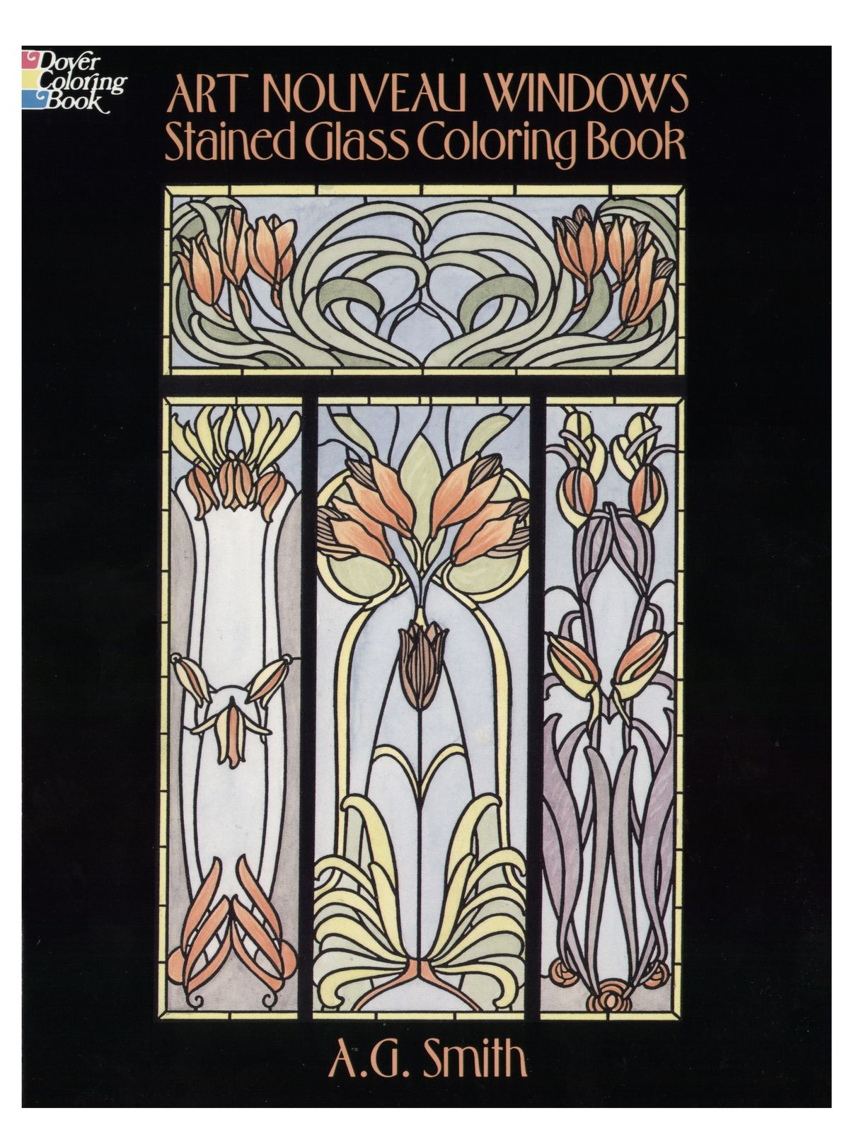 Dover - Art Nouveau Windows Stained Glass Coloring Book