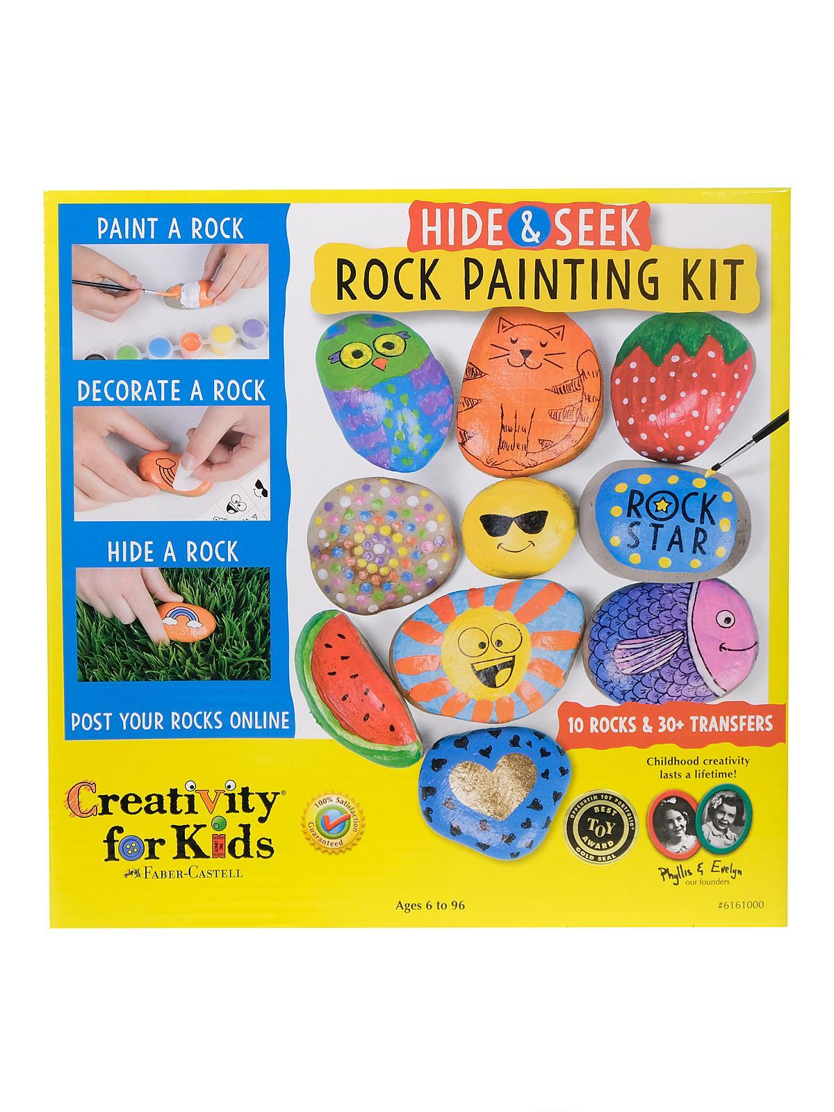 Hide & Seek Rock Painting