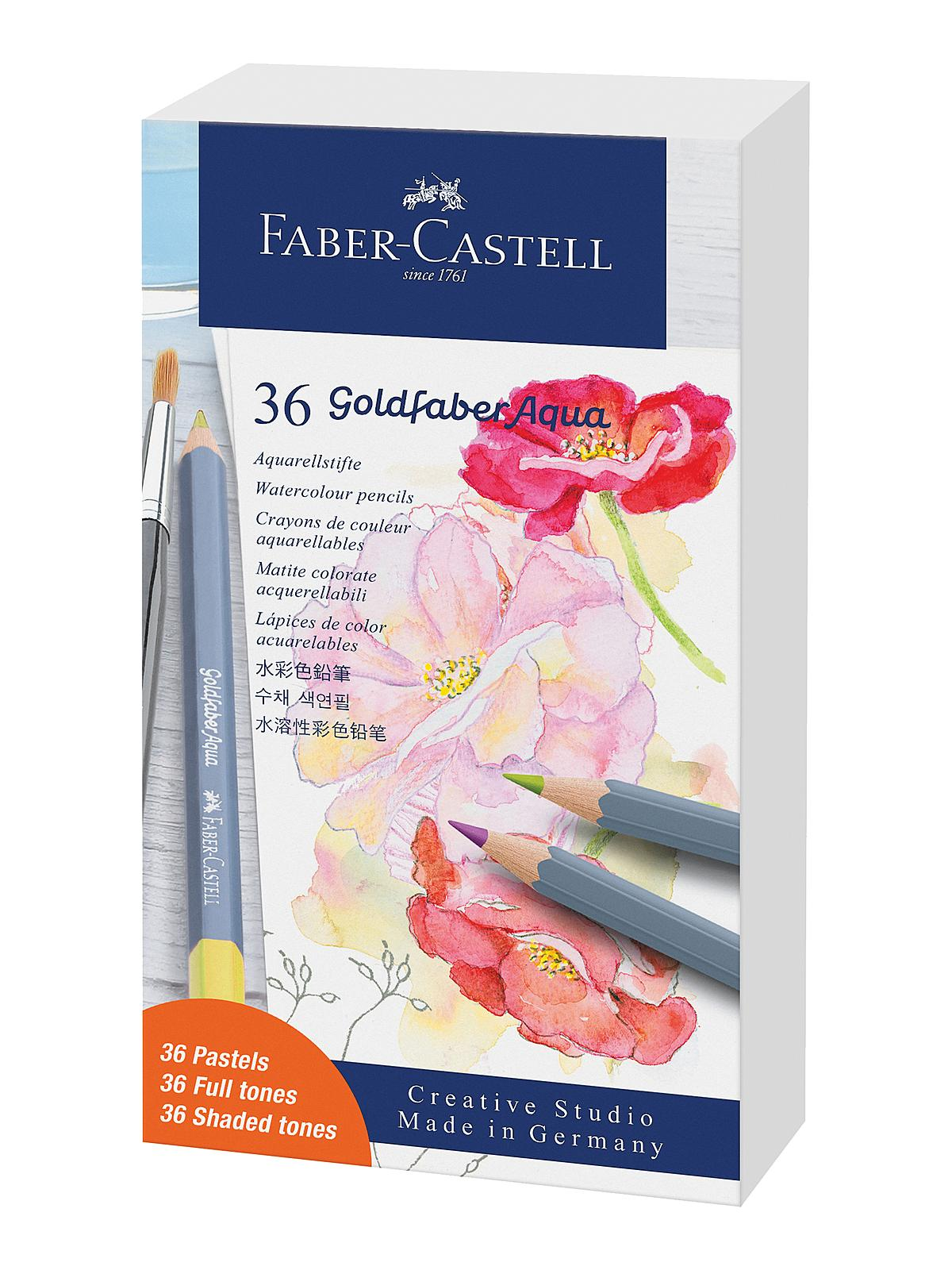 Goldfaber Aqua Watercolor Pencils Tin Sets
