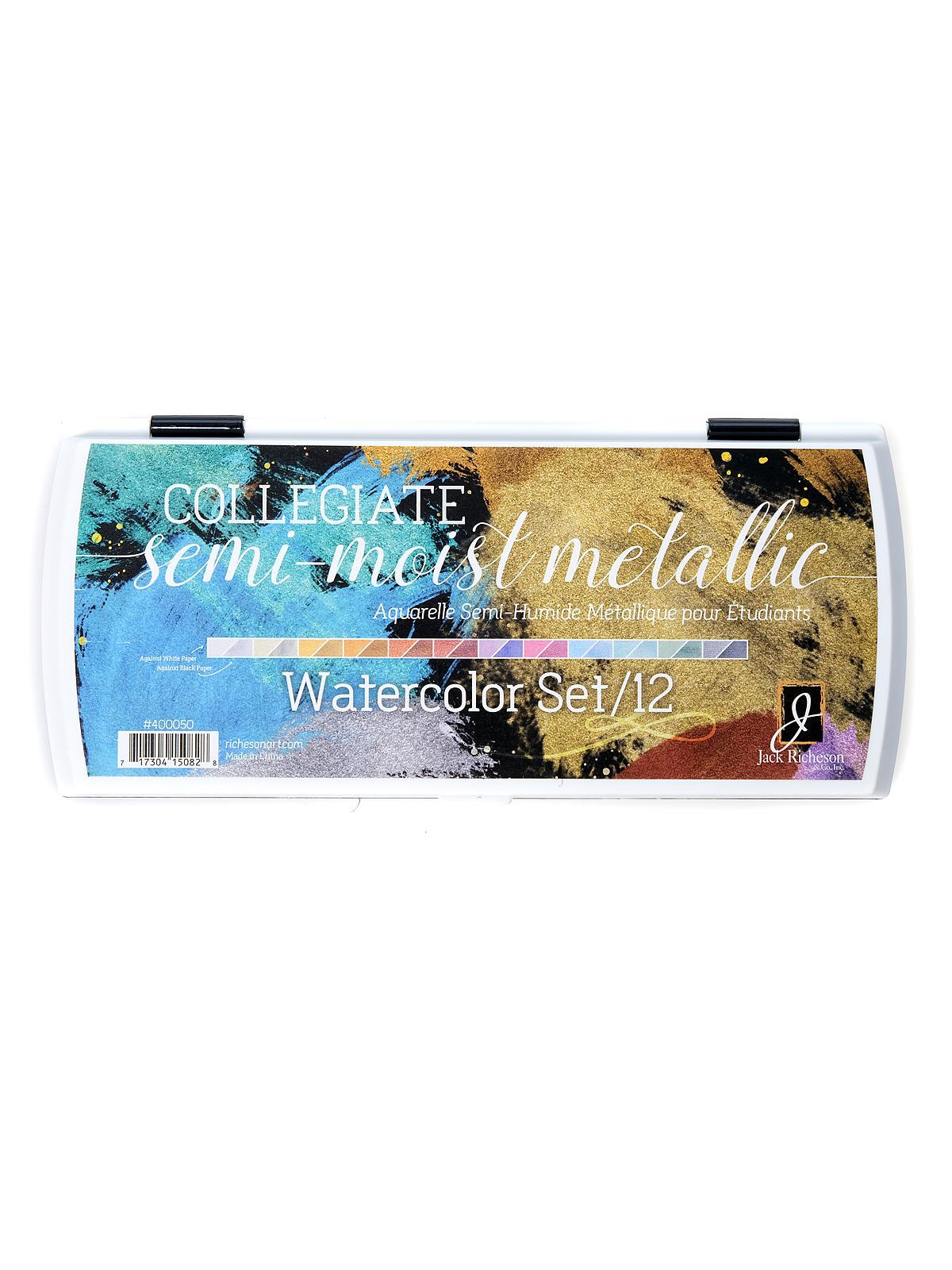 Collegiate Semi-Moist Watercolor Set