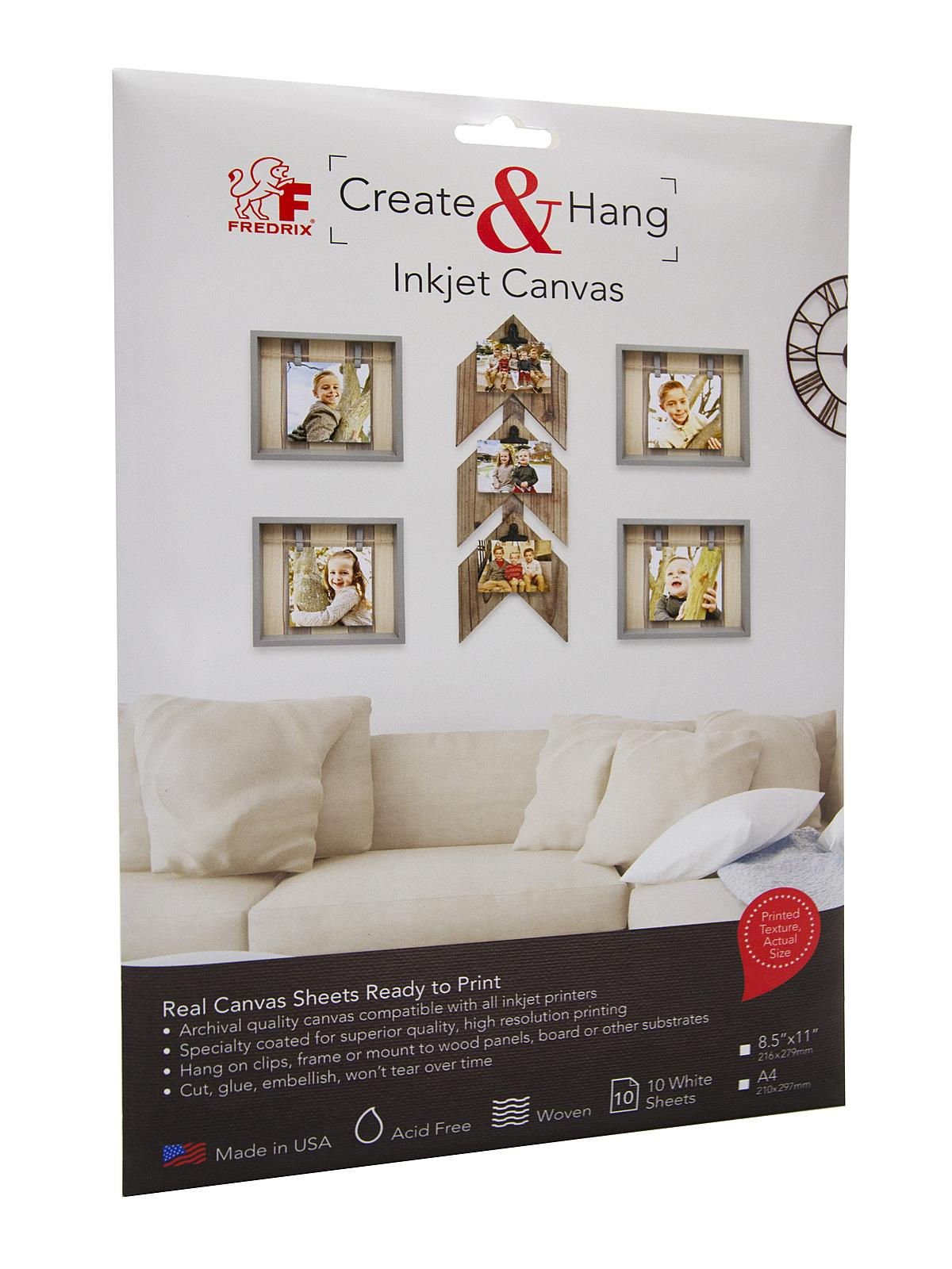 Create & Hang Inkjet Canvas