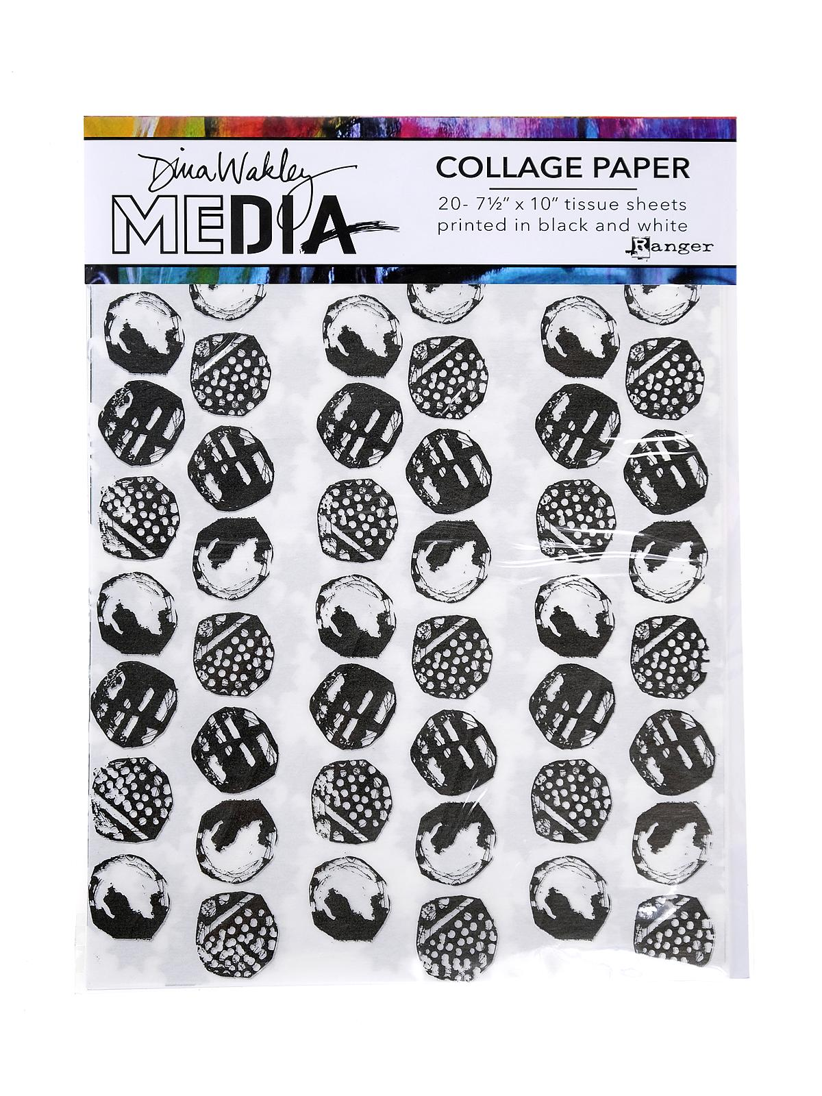 Dina Wakley Media Collage Papers