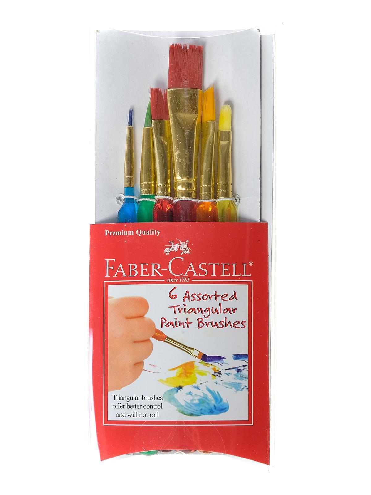 Assorted Triangular Paint Brushes