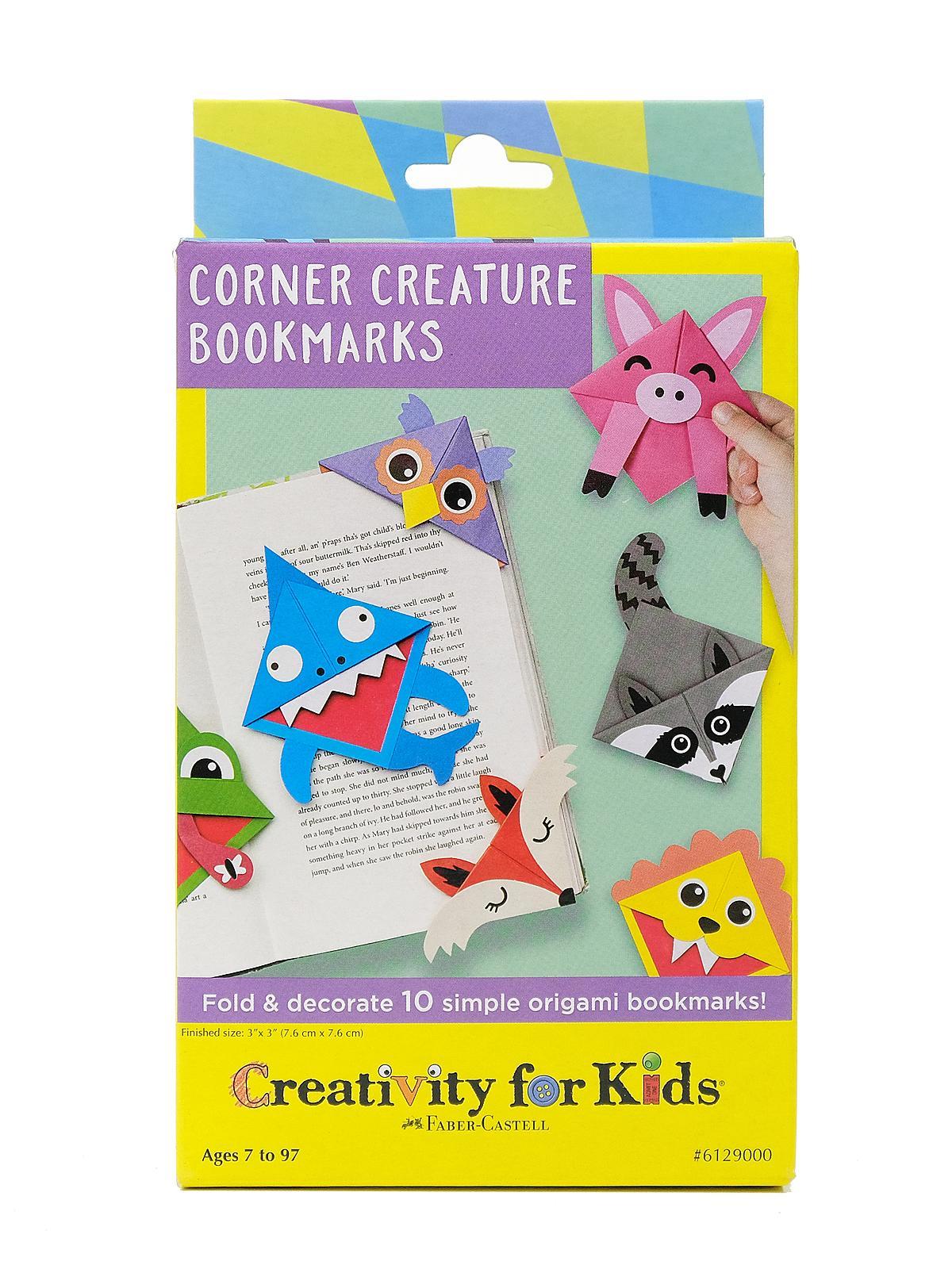Creativity For Kids - Corner Creature Bookmarks Mini Kit