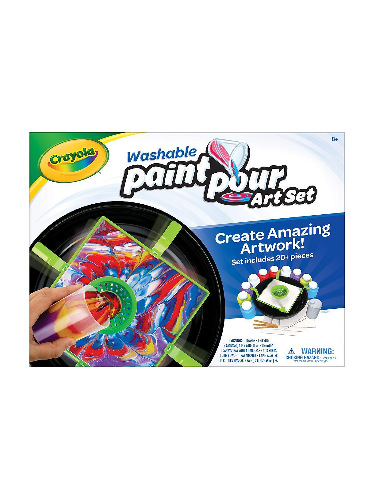 Crayola - Washable Paint & Pour Art Set