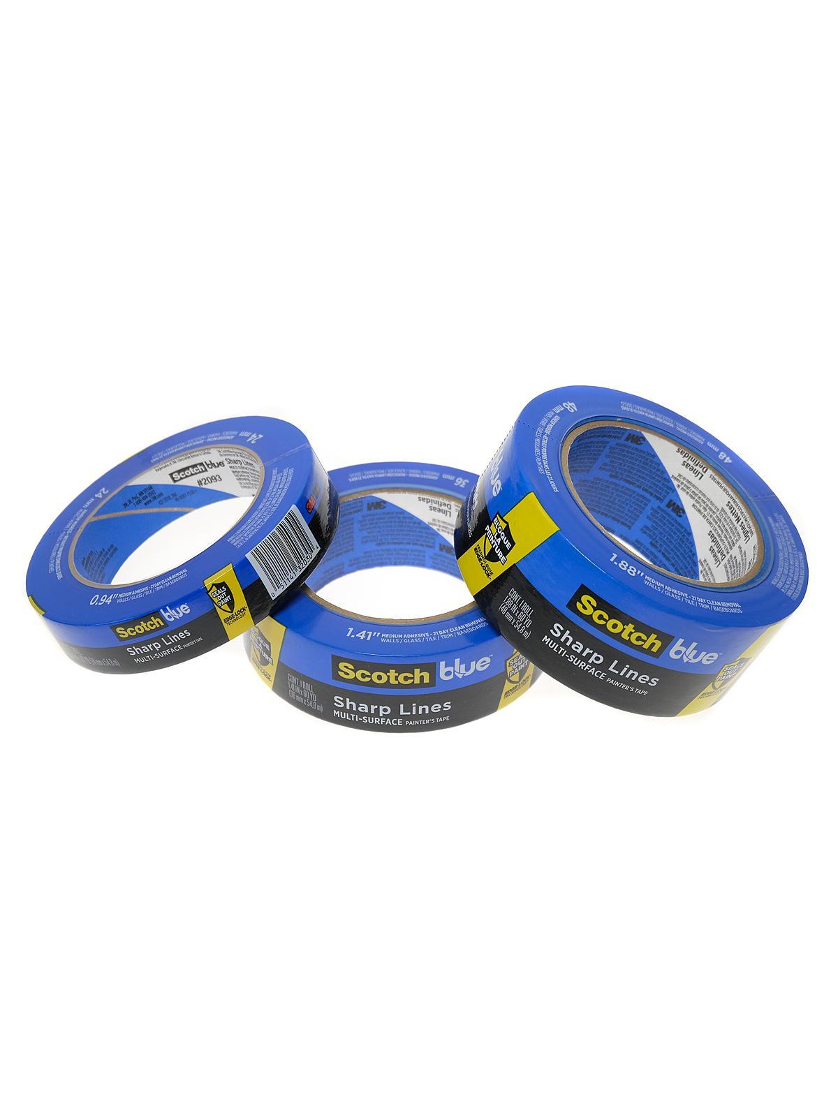 Blue Sharp Lines Painter's Tape