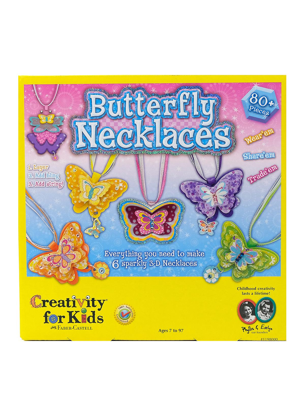 Creativity For Kids - Butterfly Necklaces