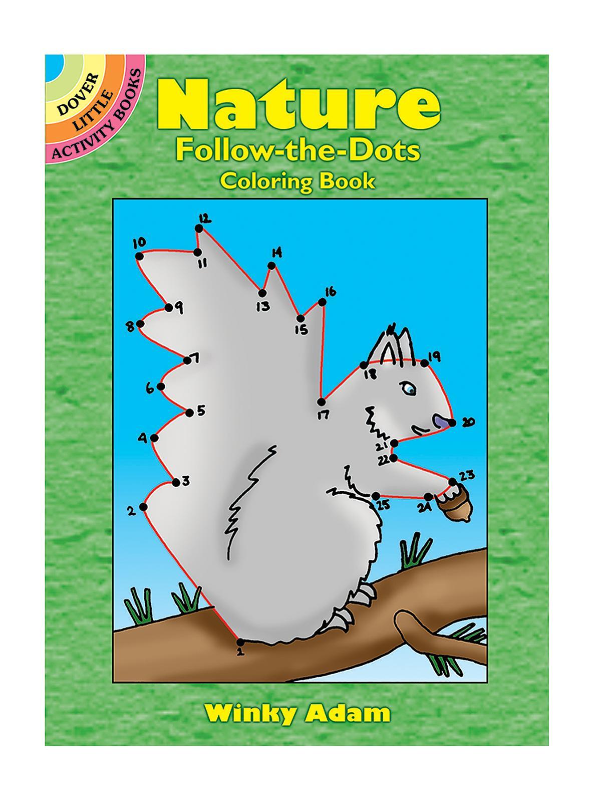 Nature Follow-The-Dots Coloring Book   MisterArt.com
