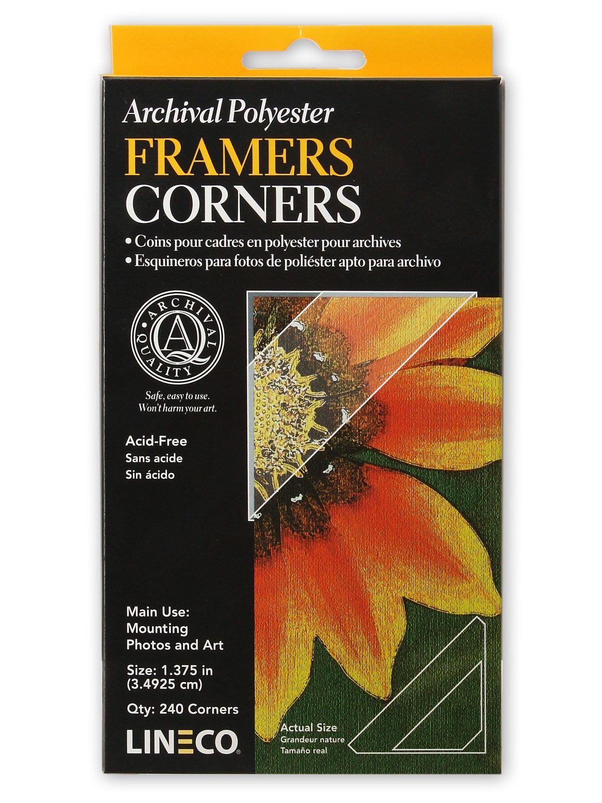 Infinity Mylar Framers Corners