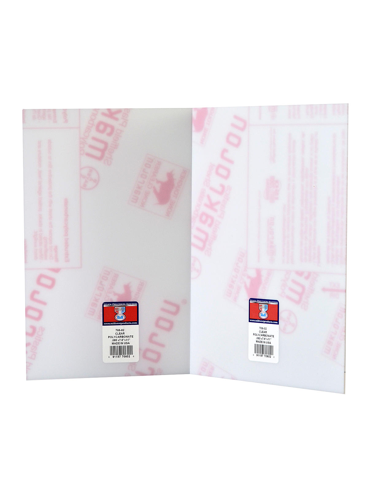 Midwest clear polycarbonate sheets for Clear plastic sheets for crafts
