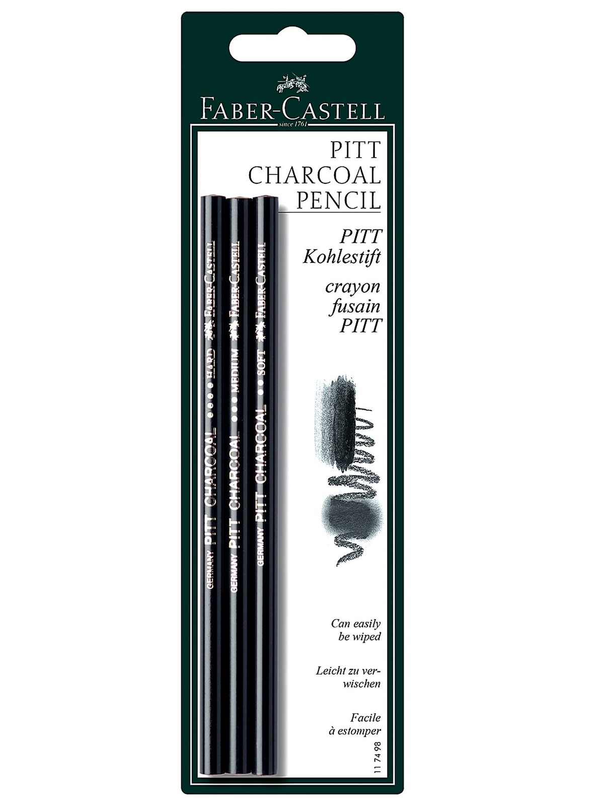 Pitt Natural Willow Charcoal Pencil Set