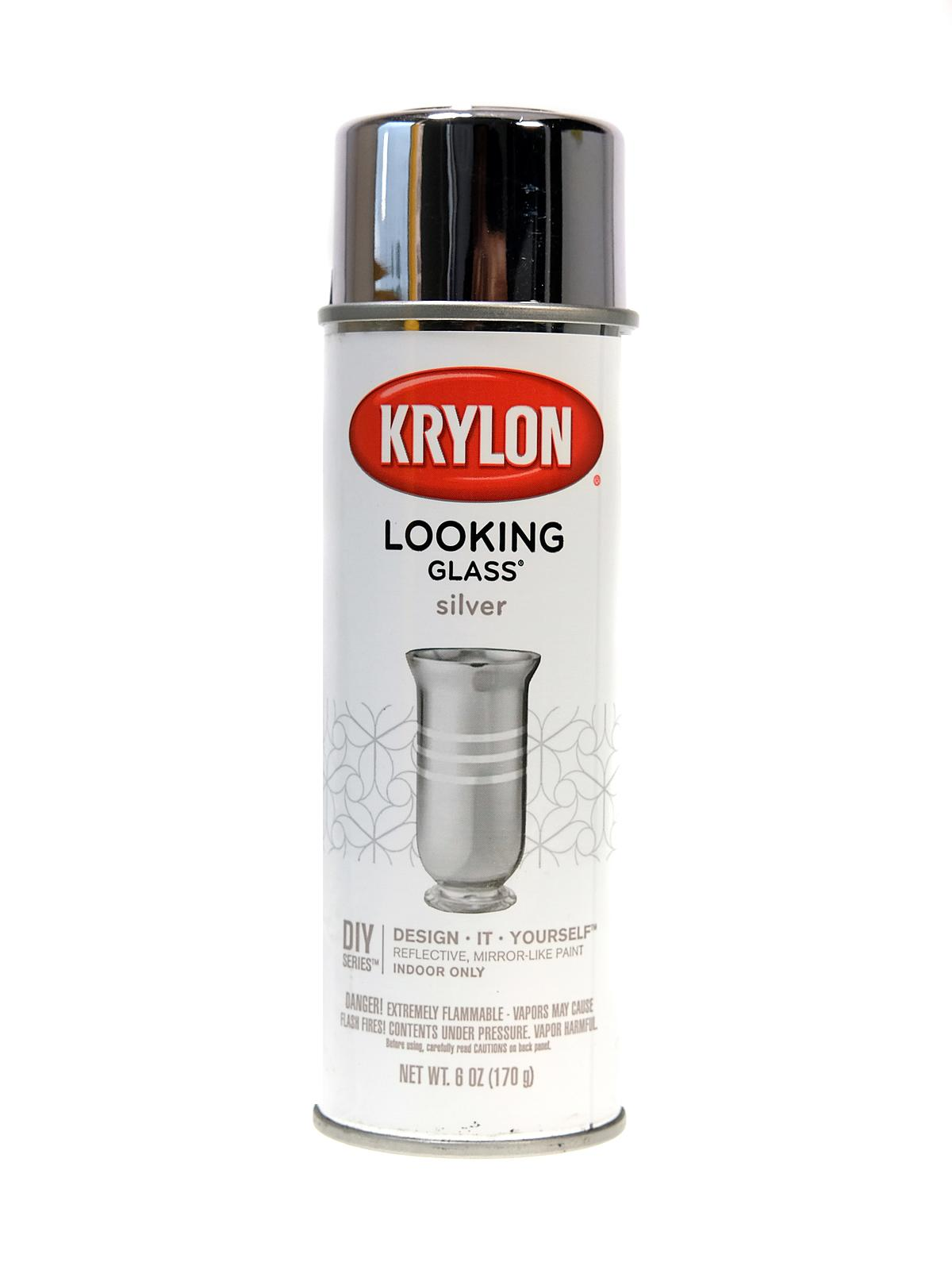 Krylon looking glass mirror like spray paint