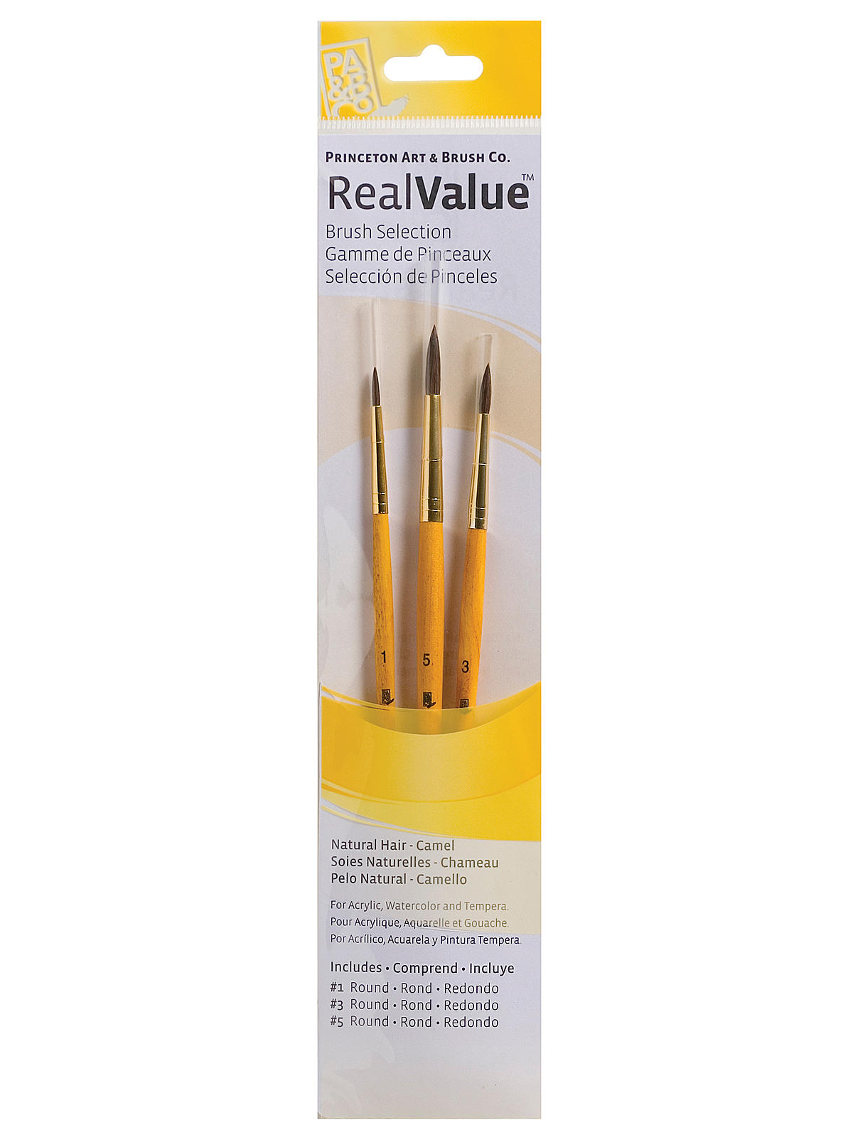Real Value Series Yellow Handle Brush Sets