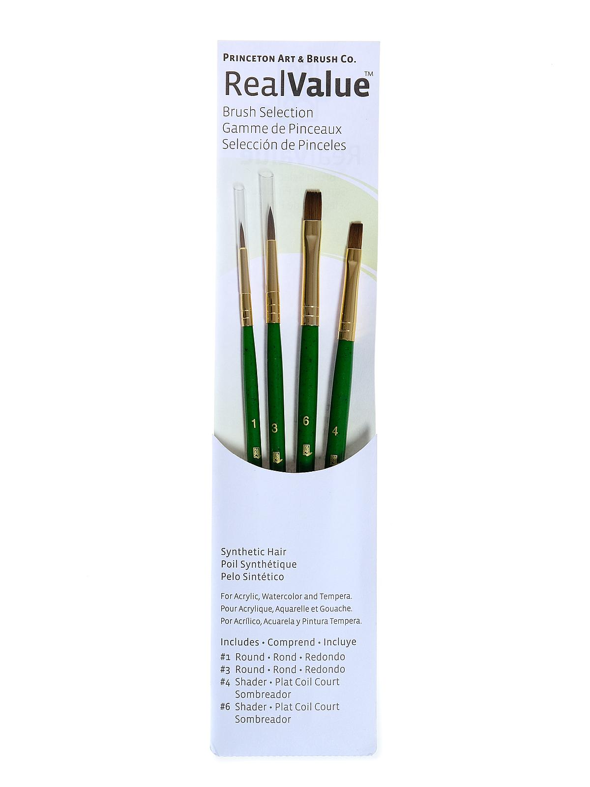 Real Value Series Green Handled Brush Sets