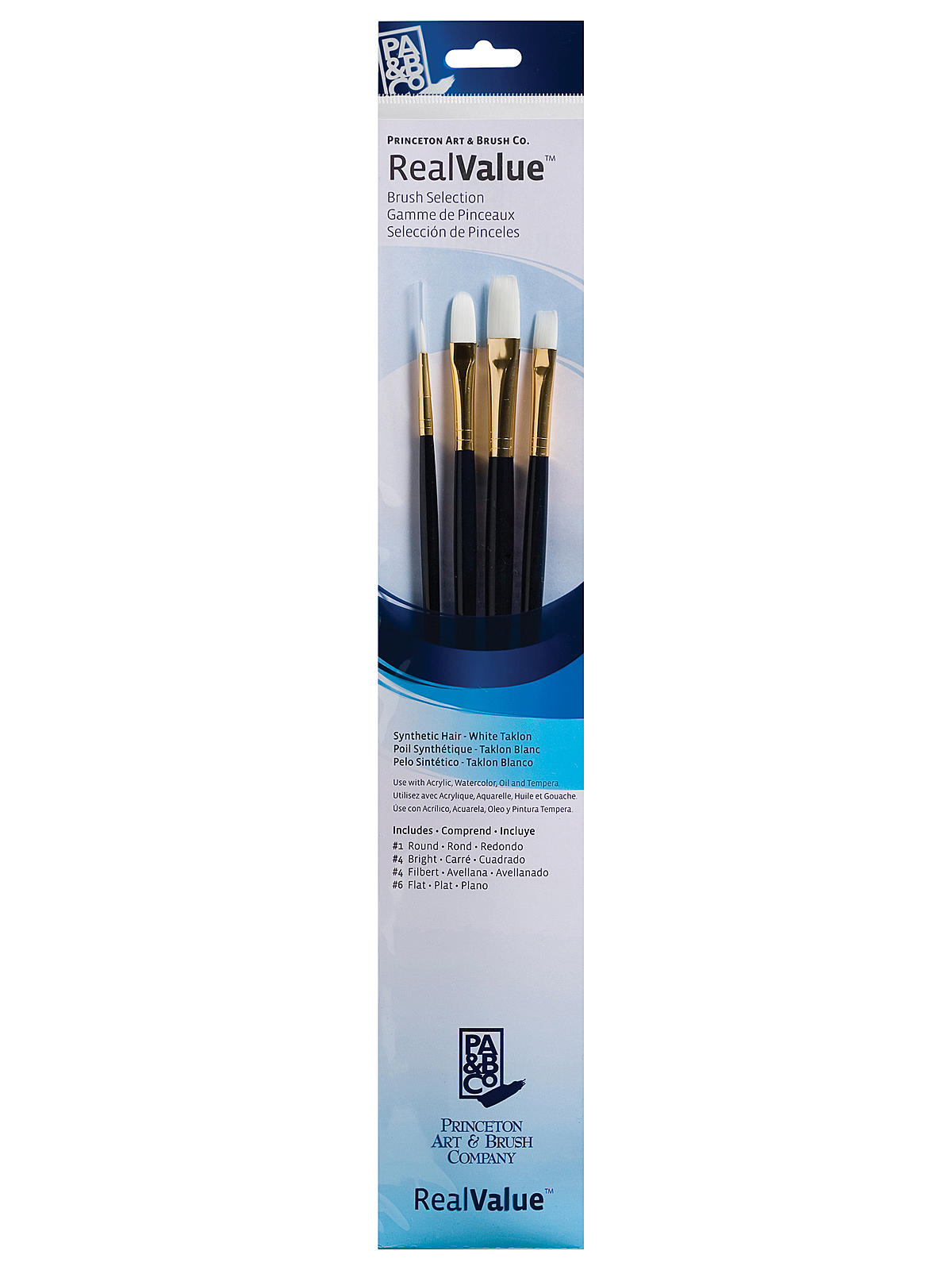 Real Value Series Blue Handled Brush Sets