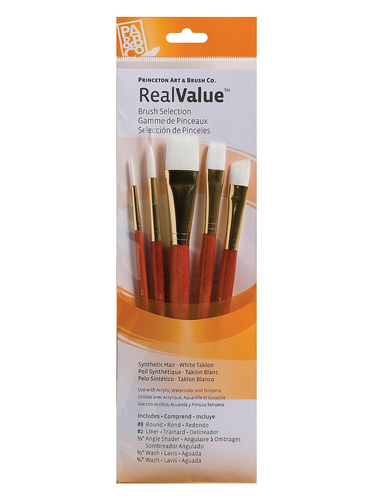 Real Value Series Orange Handled Brush Sets