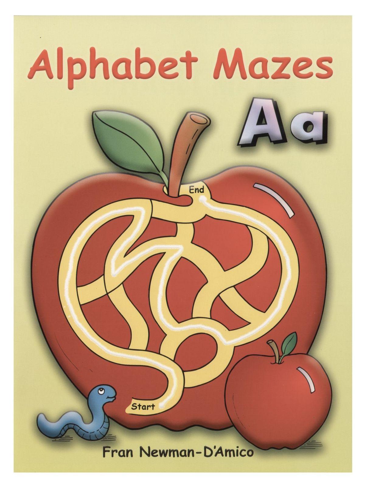 Alphabet Mazes Coloring Book