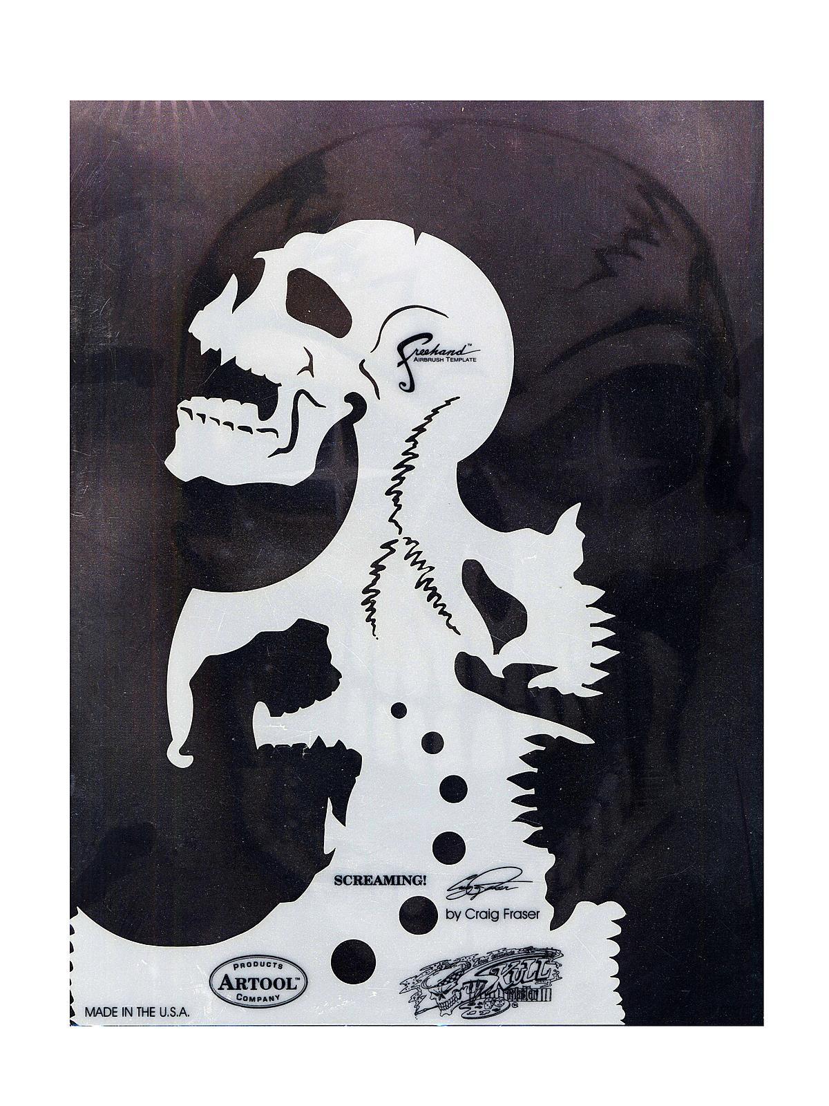 Skull Master Freehand Airbrush Templates by Craig Fraser