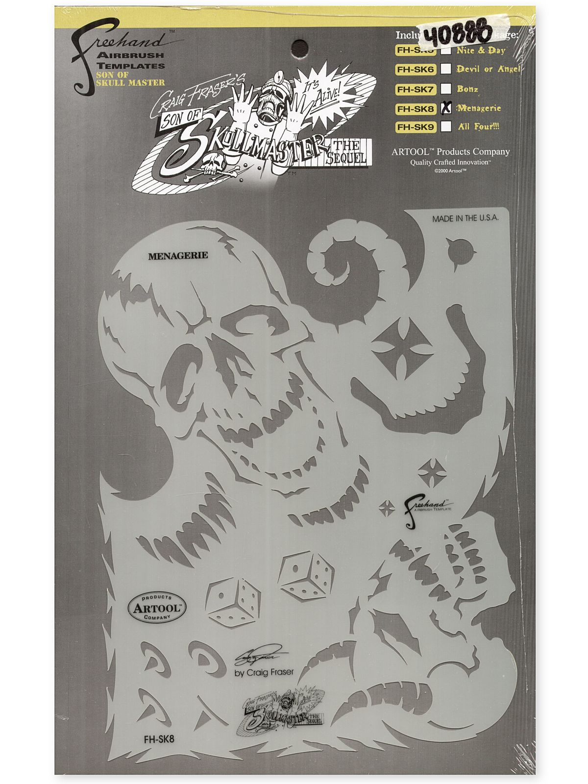 Son of Skull Master Freehand Airbrush Templates by Craig Fraser