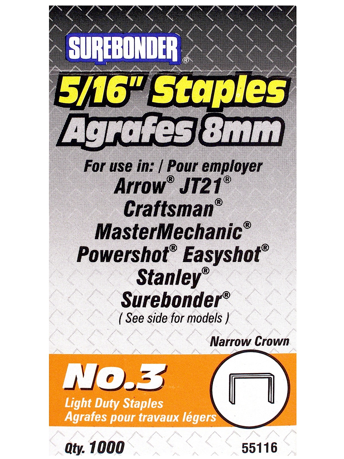 No. 3 Light Duty Staples