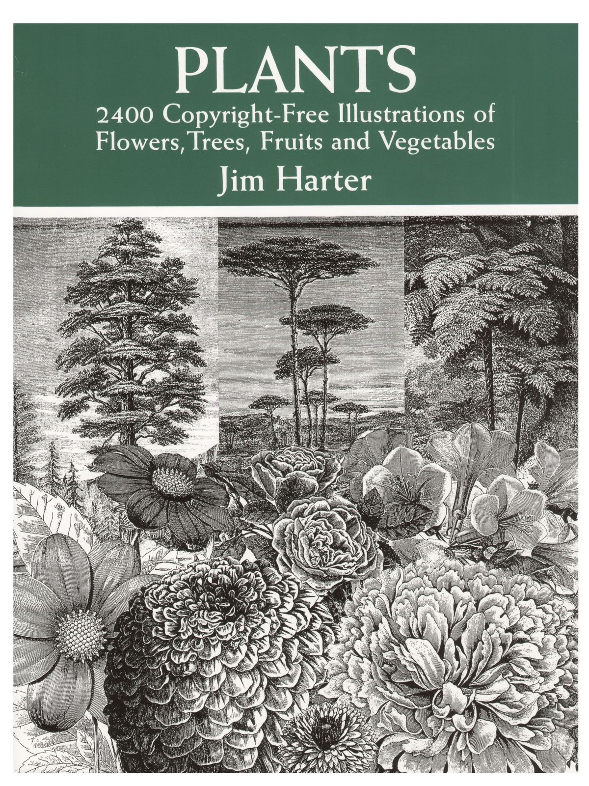 Plants: 2400 Copyright-Free Illustrations