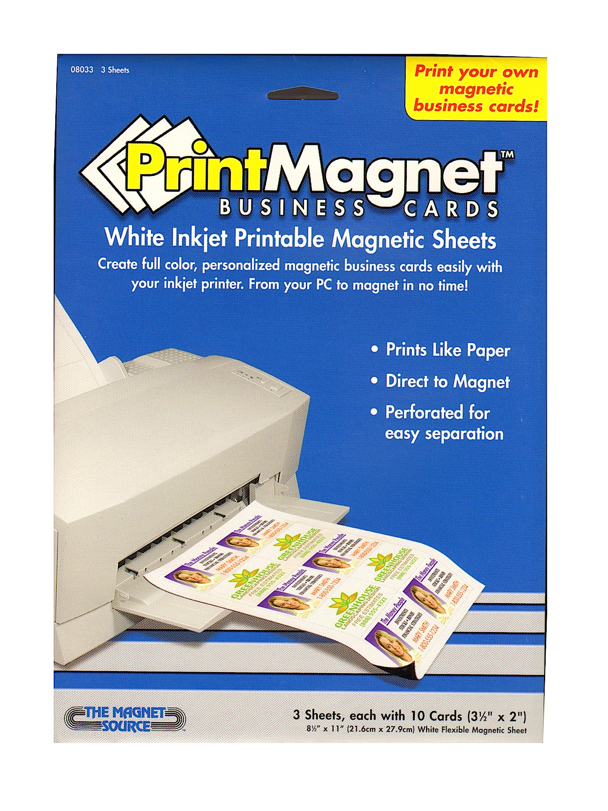 Massif image throughout printable magnet