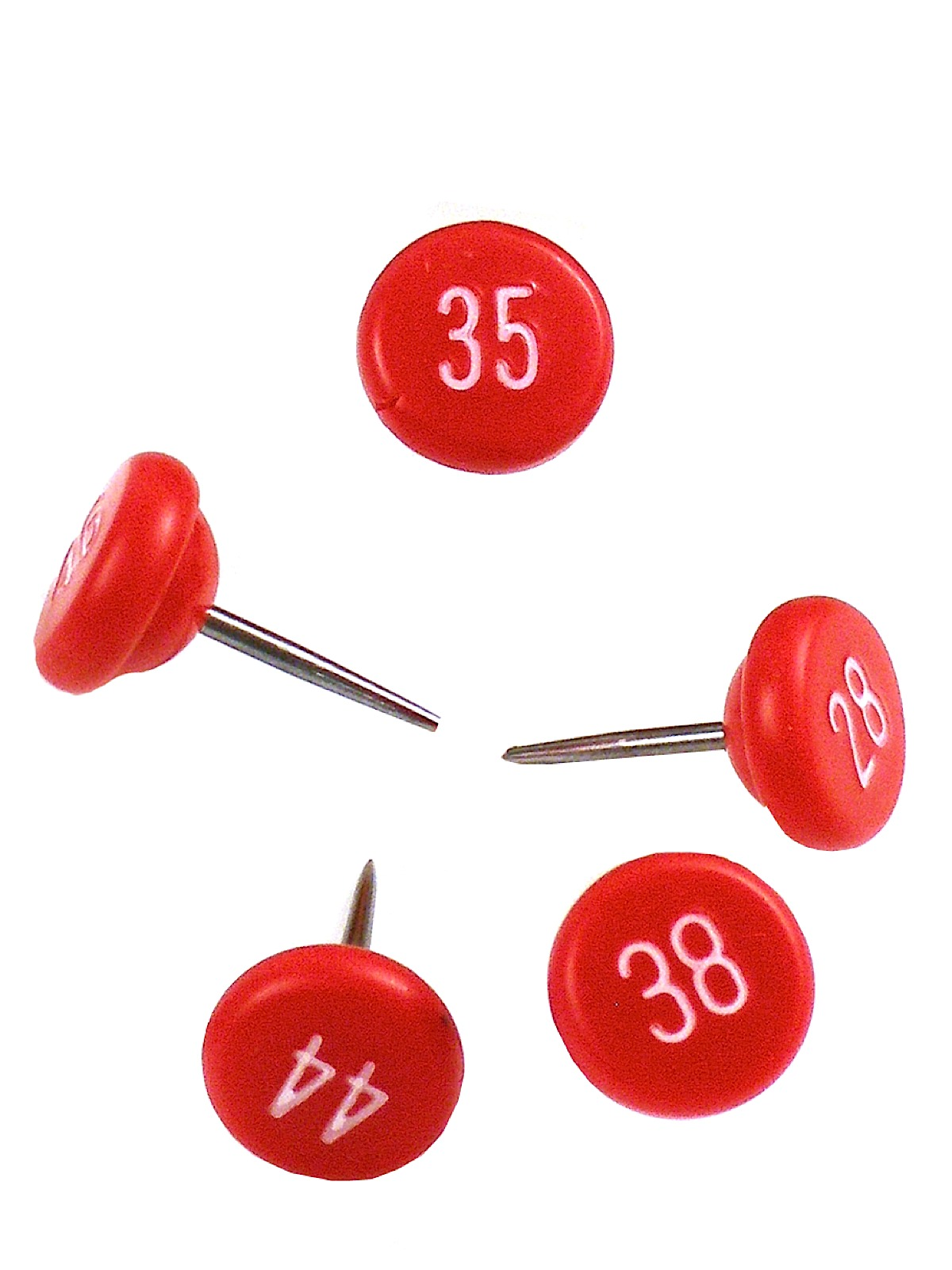 Large Numbered Map Tacks