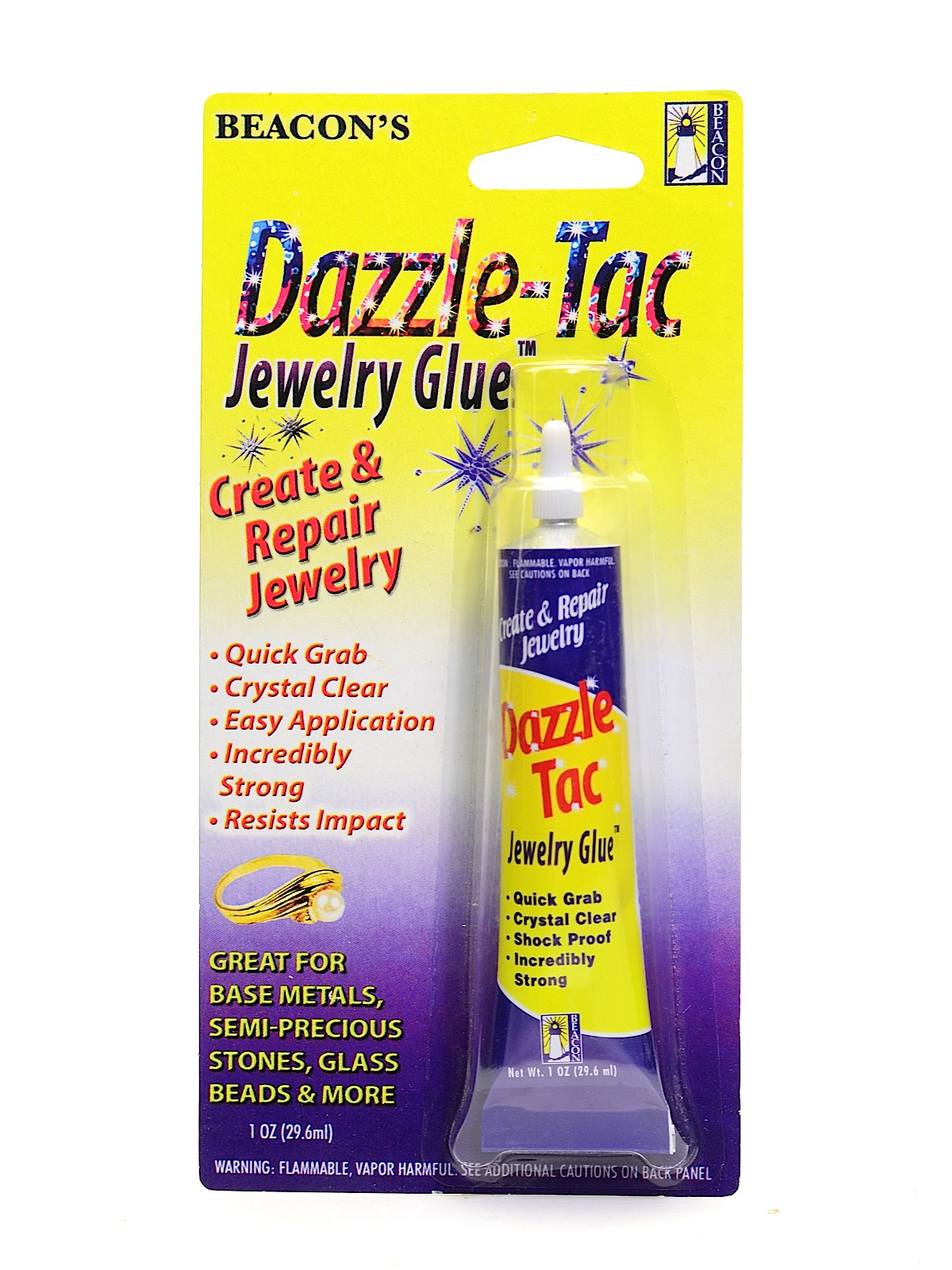 beacon dazzle tac jewelry glue