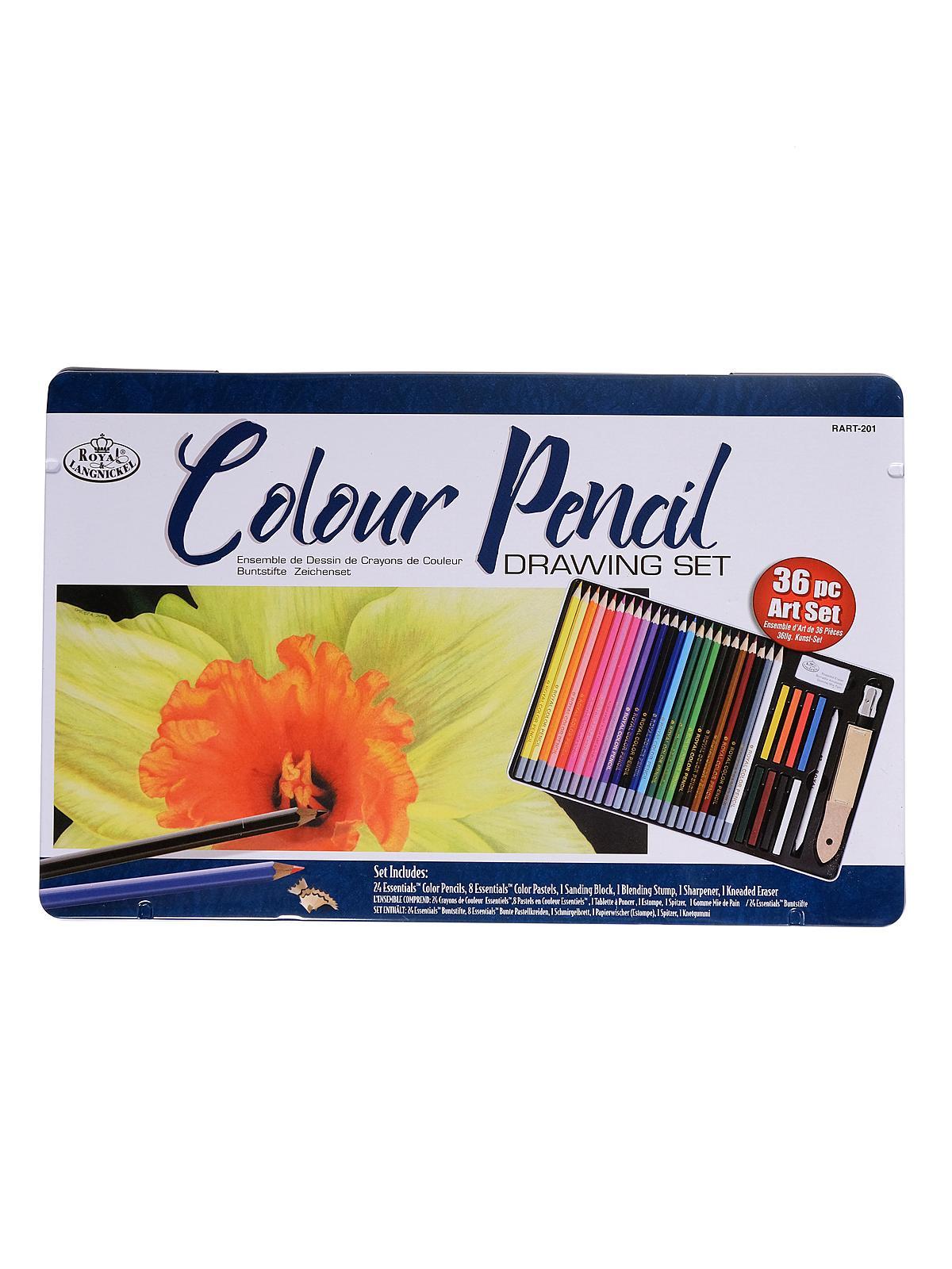 Royal & Langnickel - Colour Pencil Drawing Set