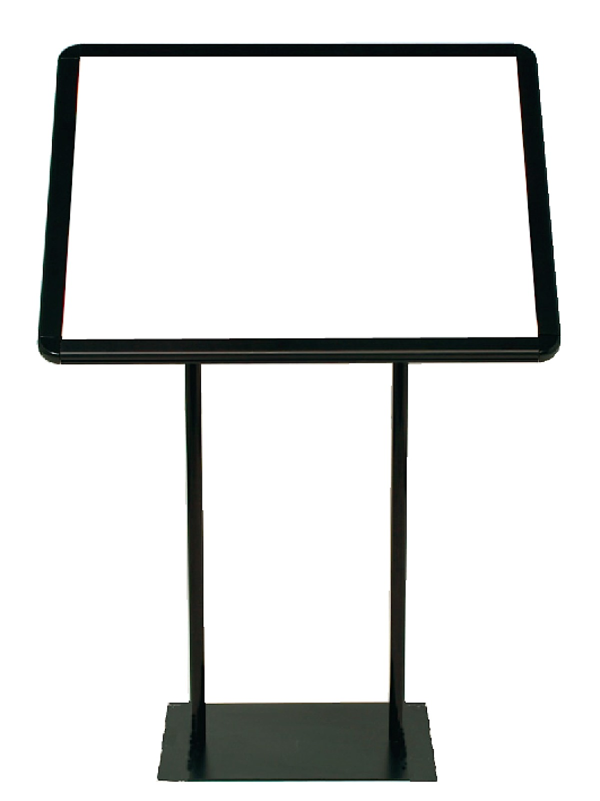 Easy-Open Angled Snapframe Pedestal Sign Stands