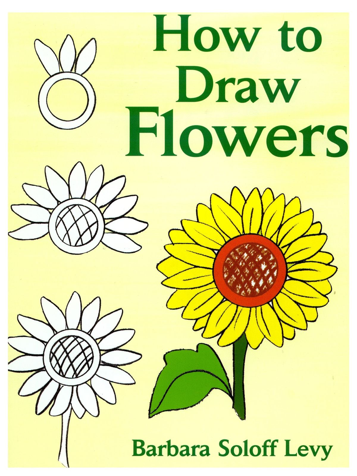 how to draw flowers book