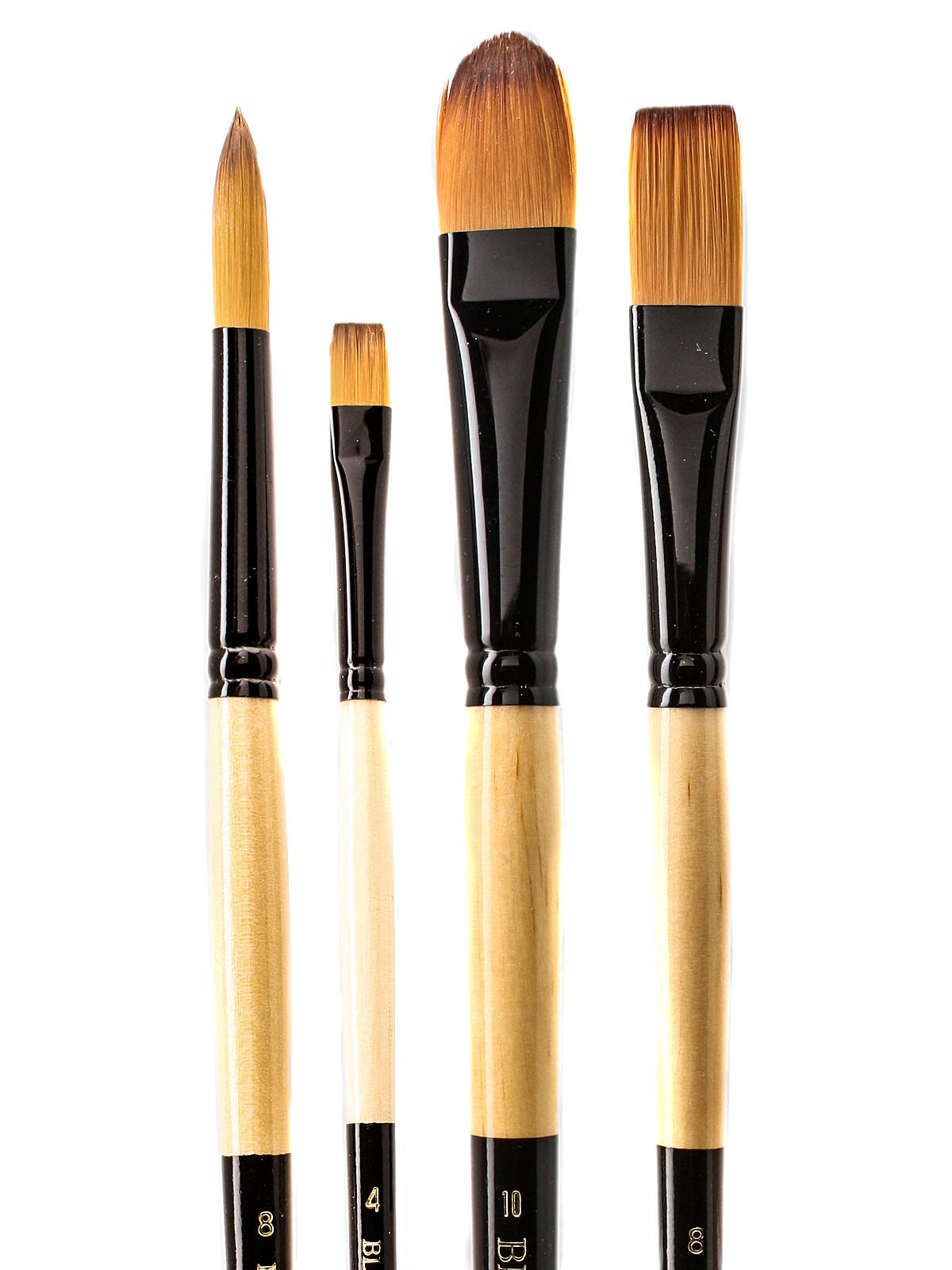 Black Gold Series Long Handled Synthetic Brushes