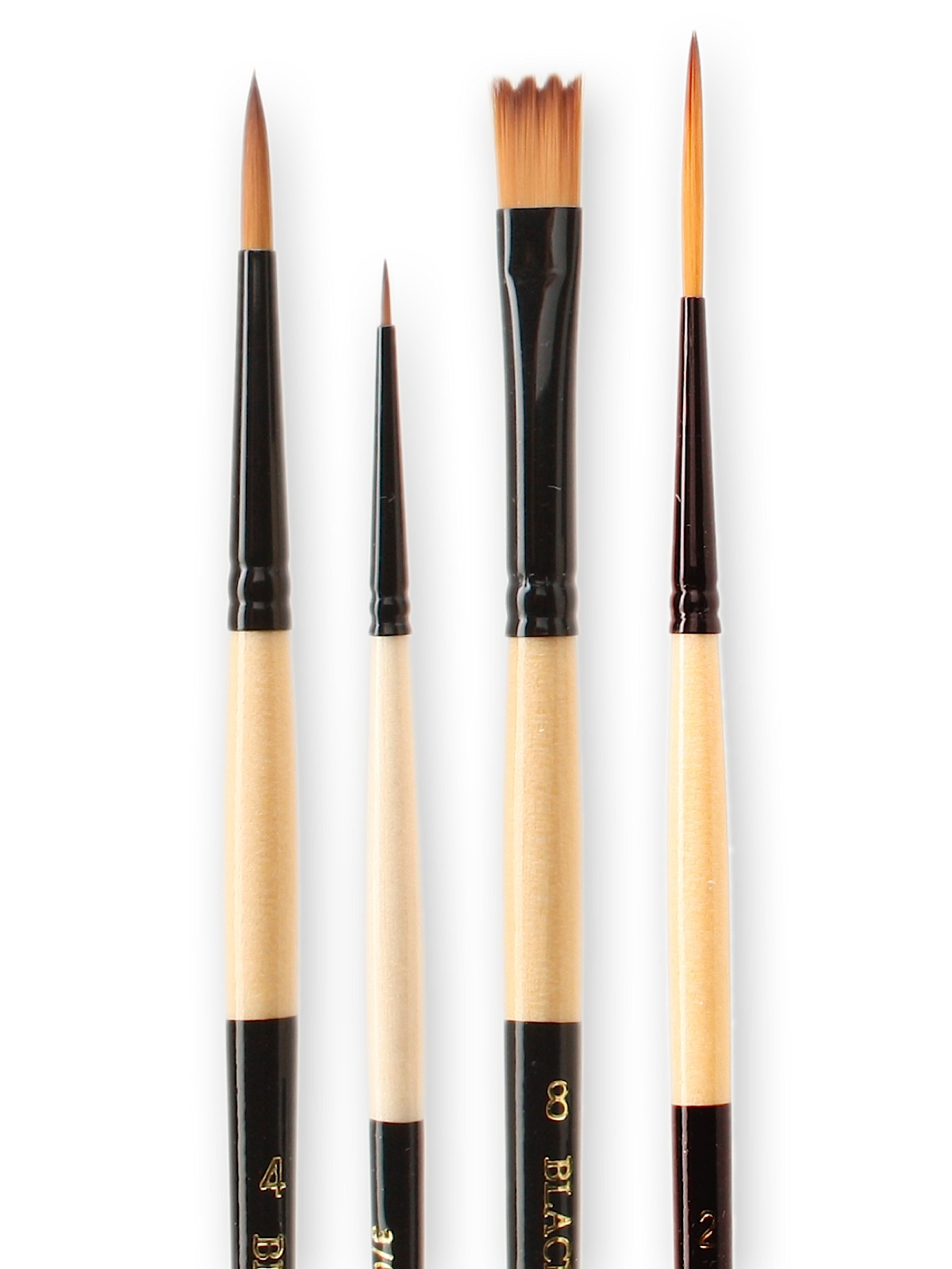 Dynasty Black Gold Series Synthetic Brushes Short Handle 12 round