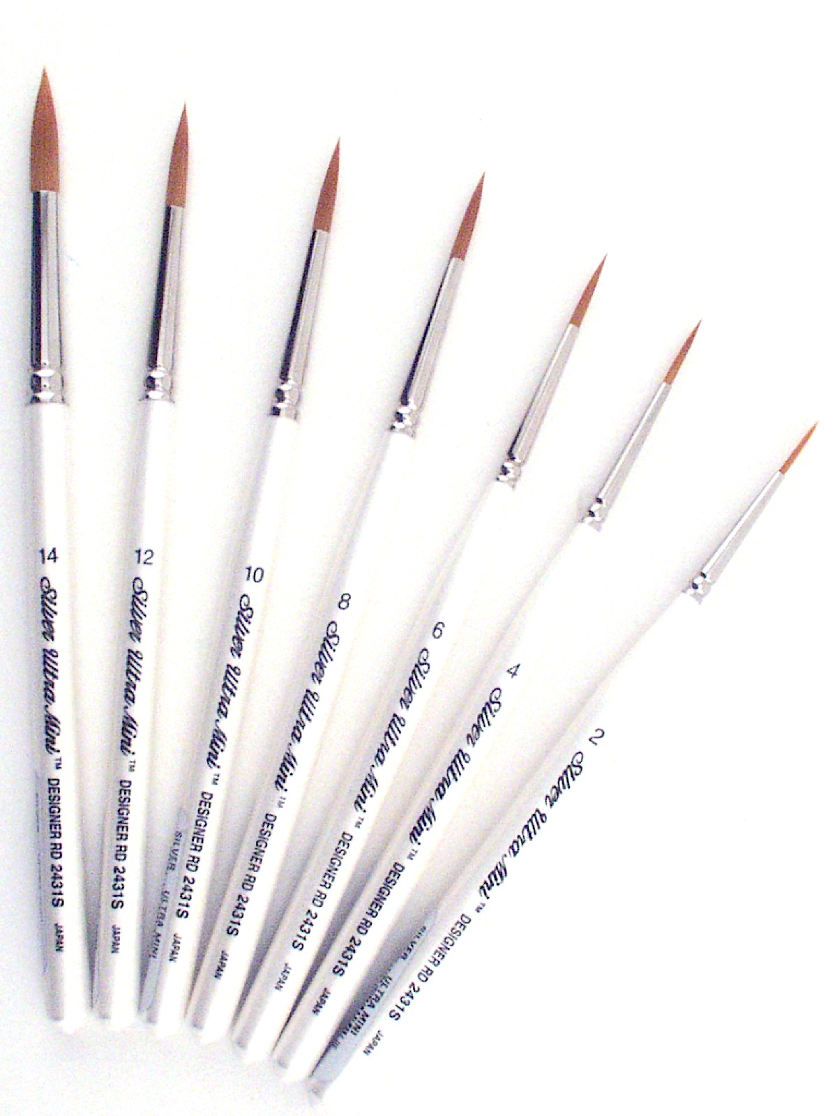 Silver Brush Ultra Mini Series Golden Taklon Brushes