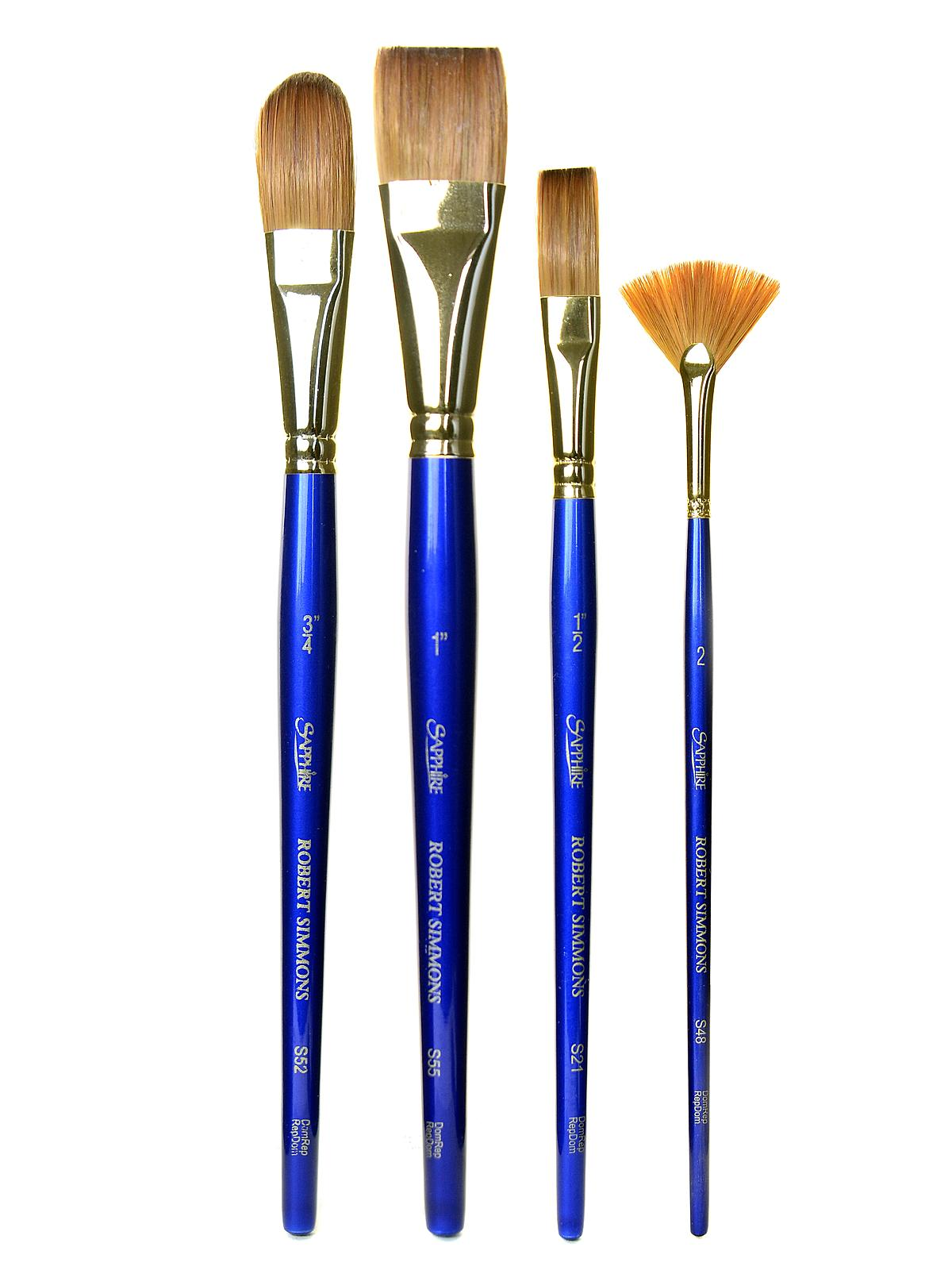 Sapphire Series Synthetic Brushes Short Handle