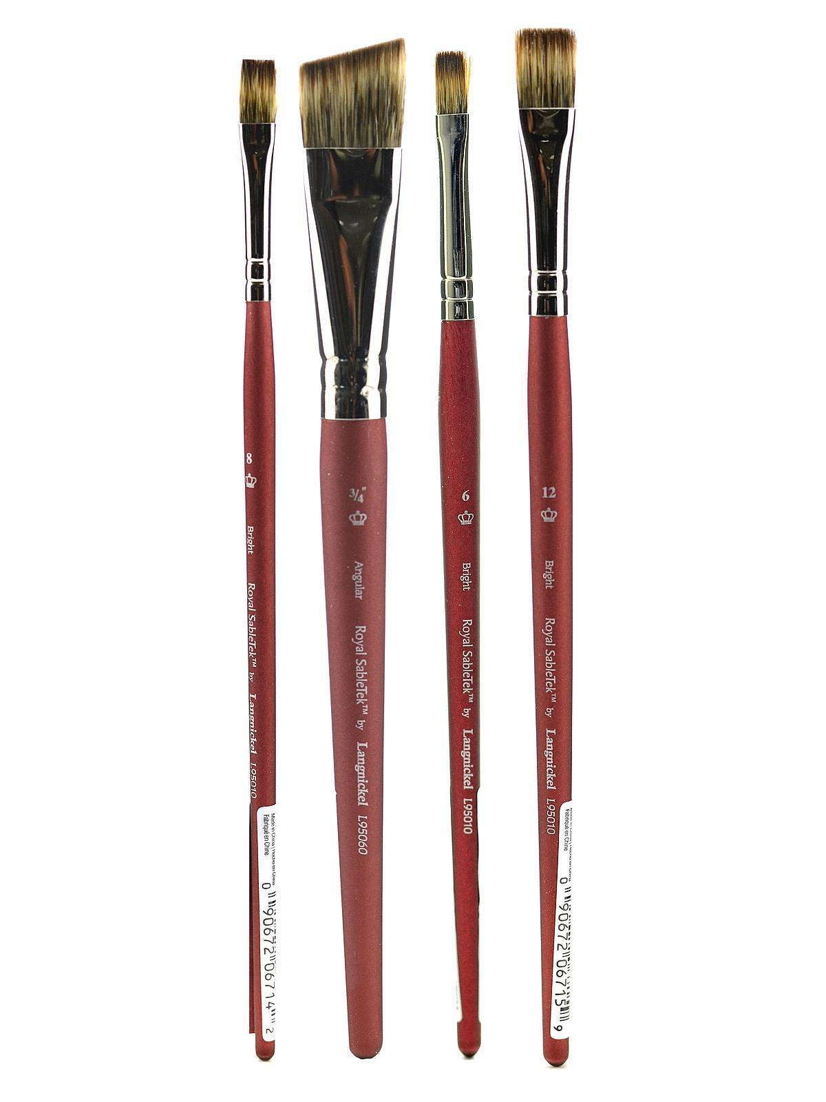 Royal Sabletek Brushes Short Handle