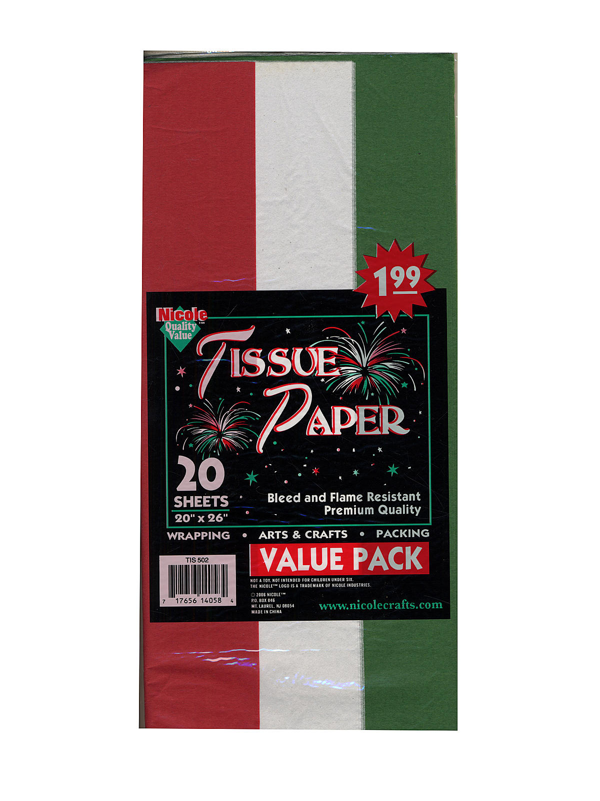 Folded Tissue Paper