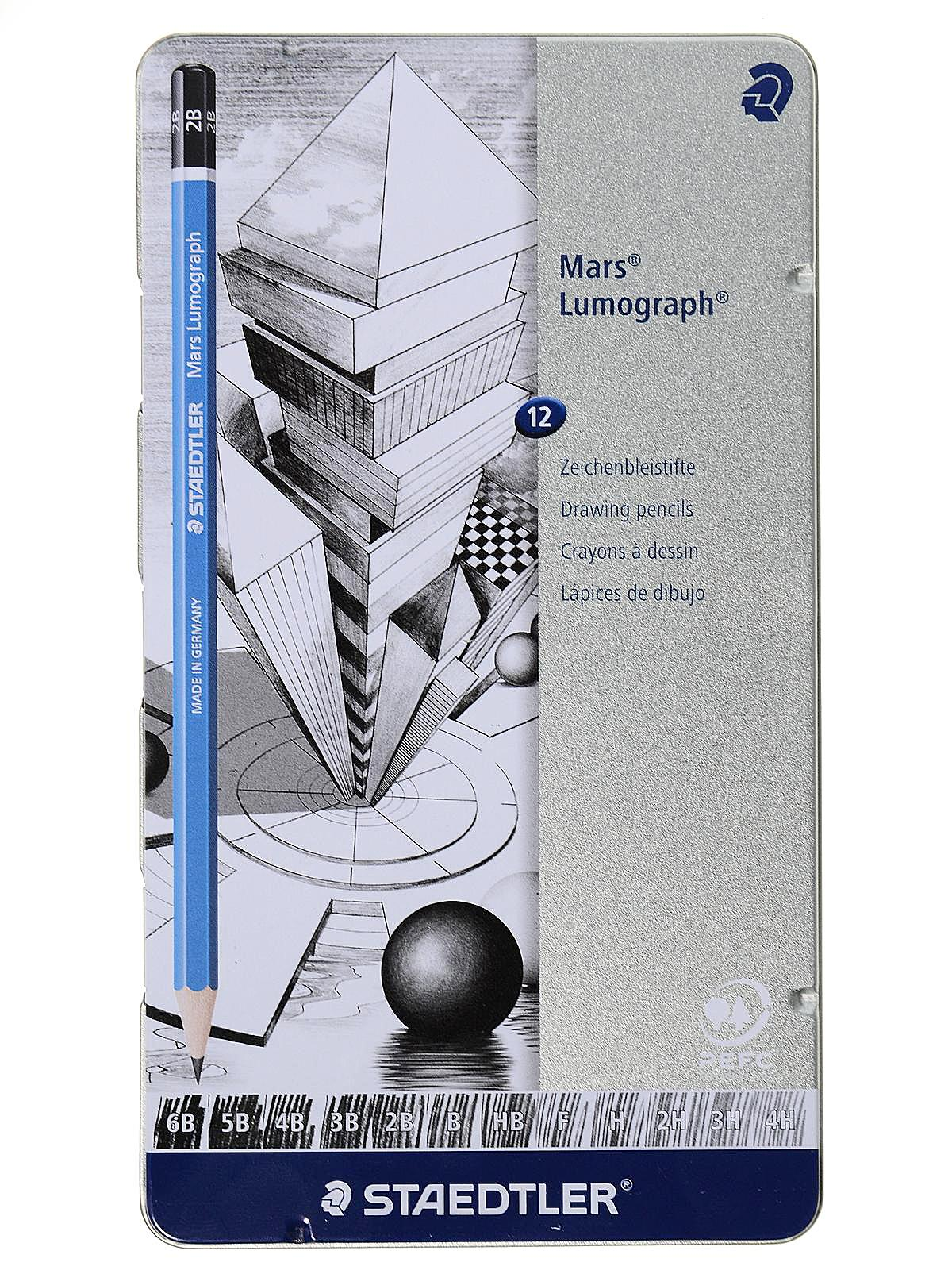 Mars Lumograph Pencil Tin Sets