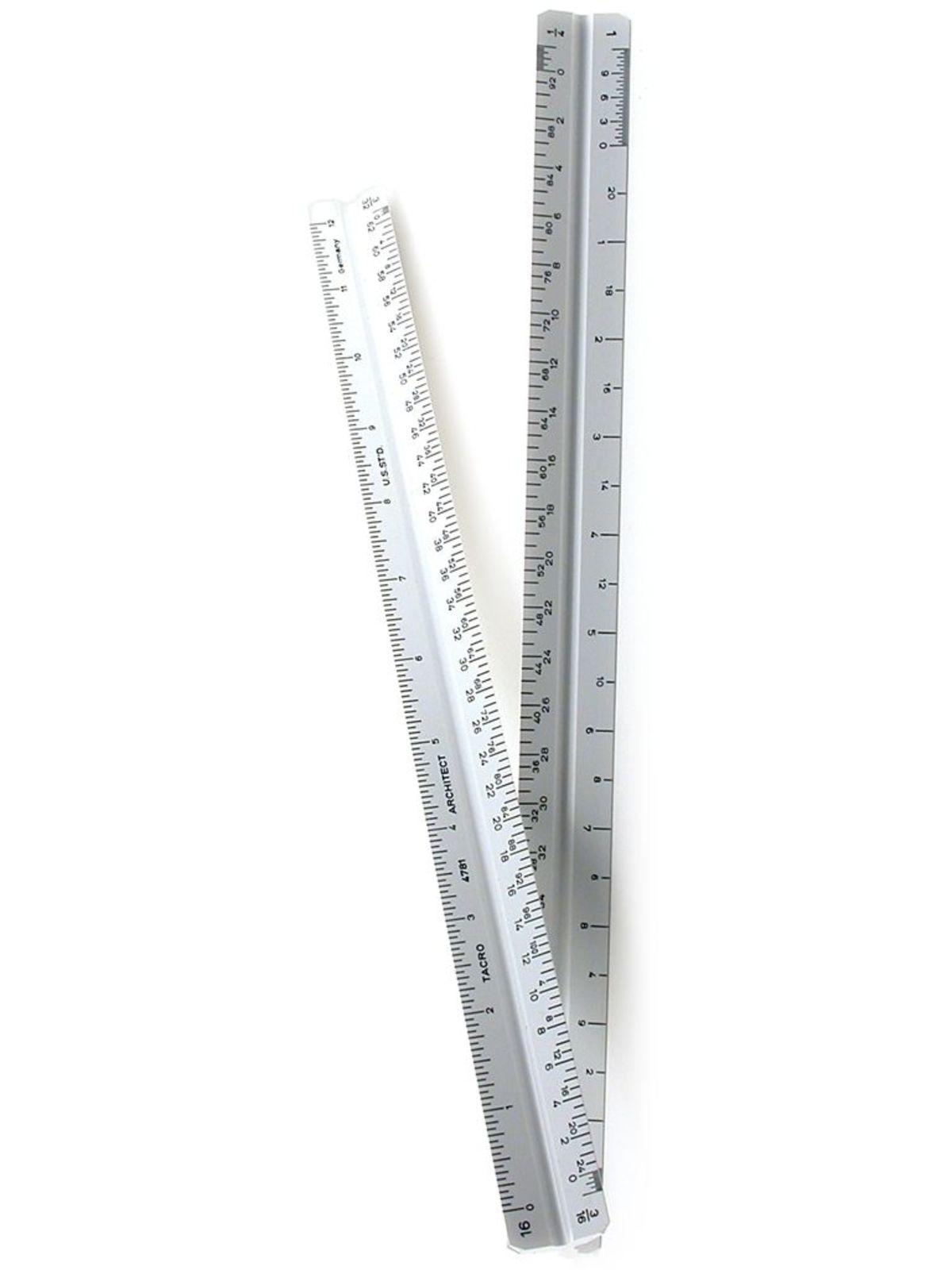 12 Inch Triangular Architect Scale
