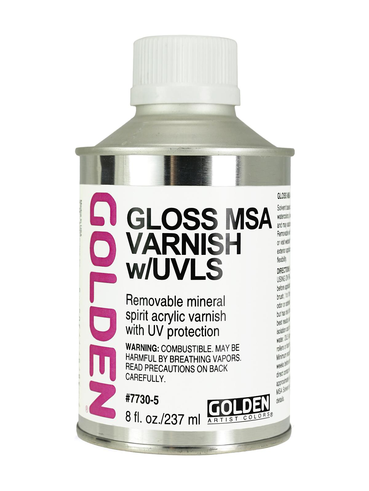 MSA (Mineral Spirit Acrylic) Varnish with UVLS
