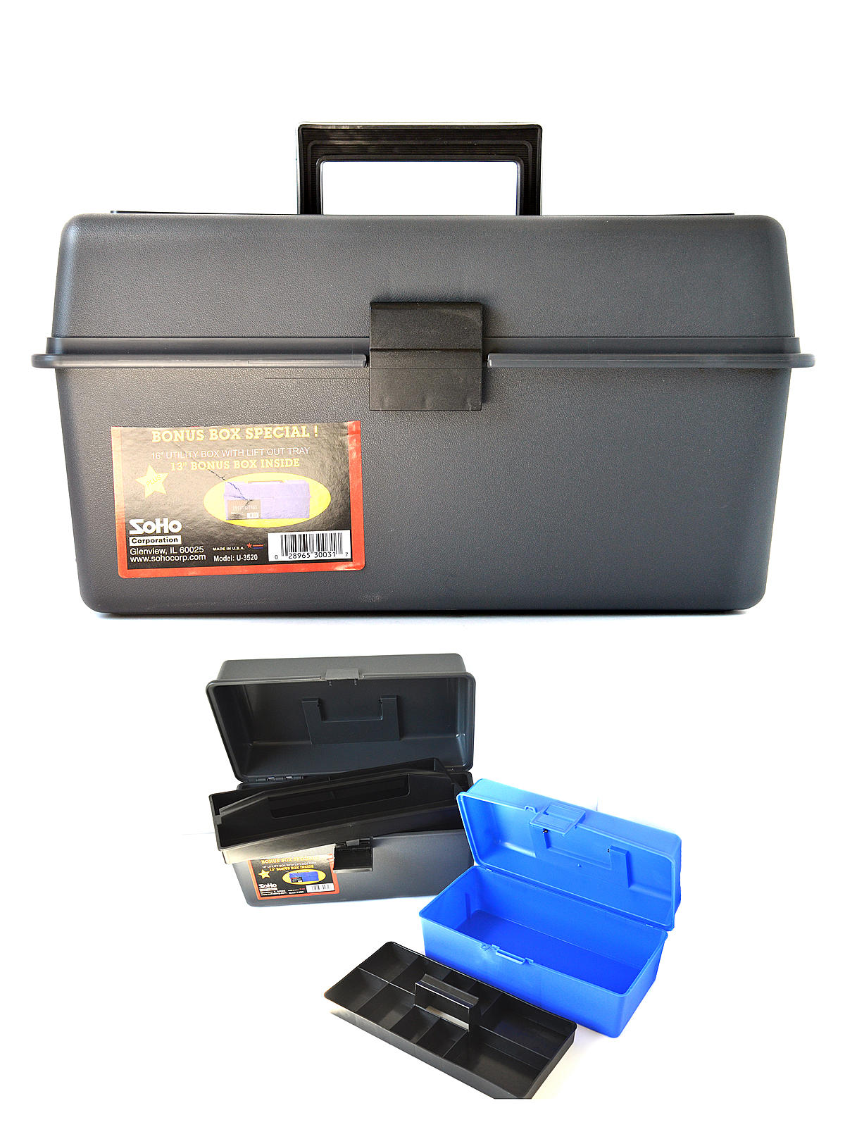 16 In. Utility Box with Lift-Out Tray