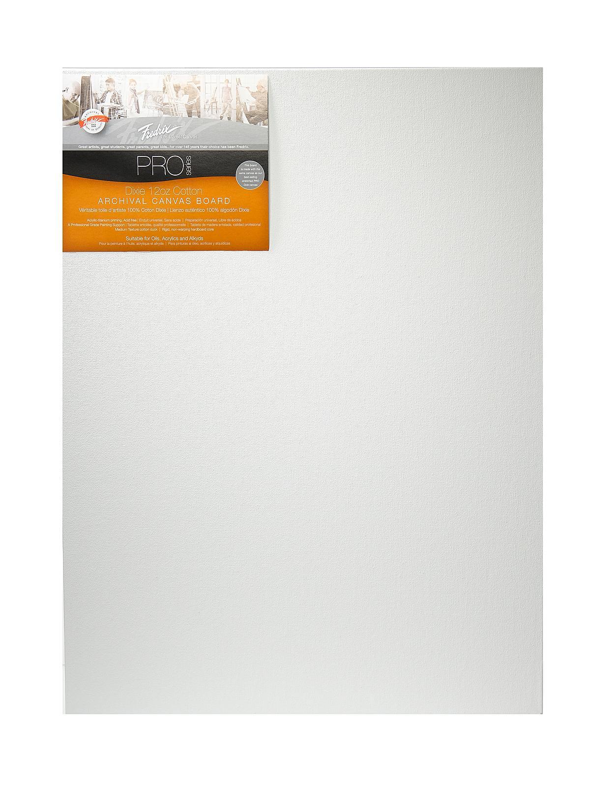 Fredrix Pro Series Archival Canvas Board Misterart Com
