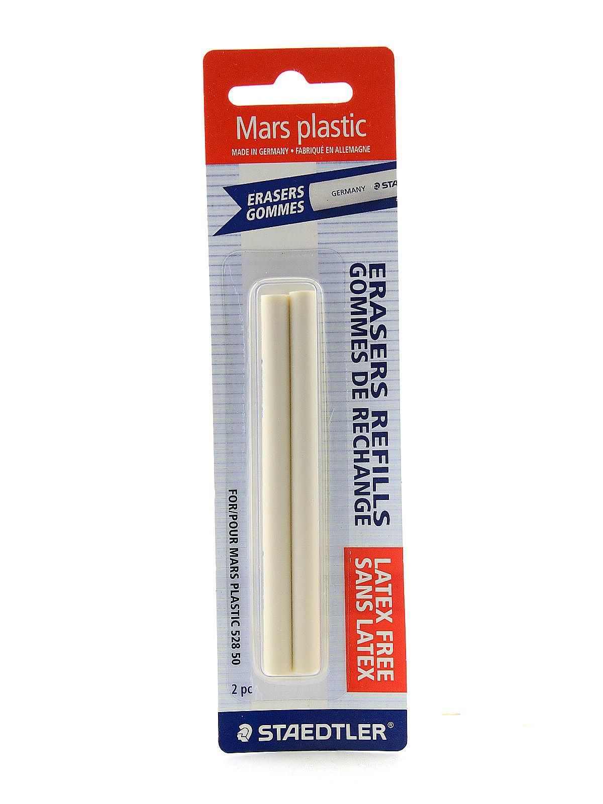 Mars White Plastic Stick Eraser and Refills