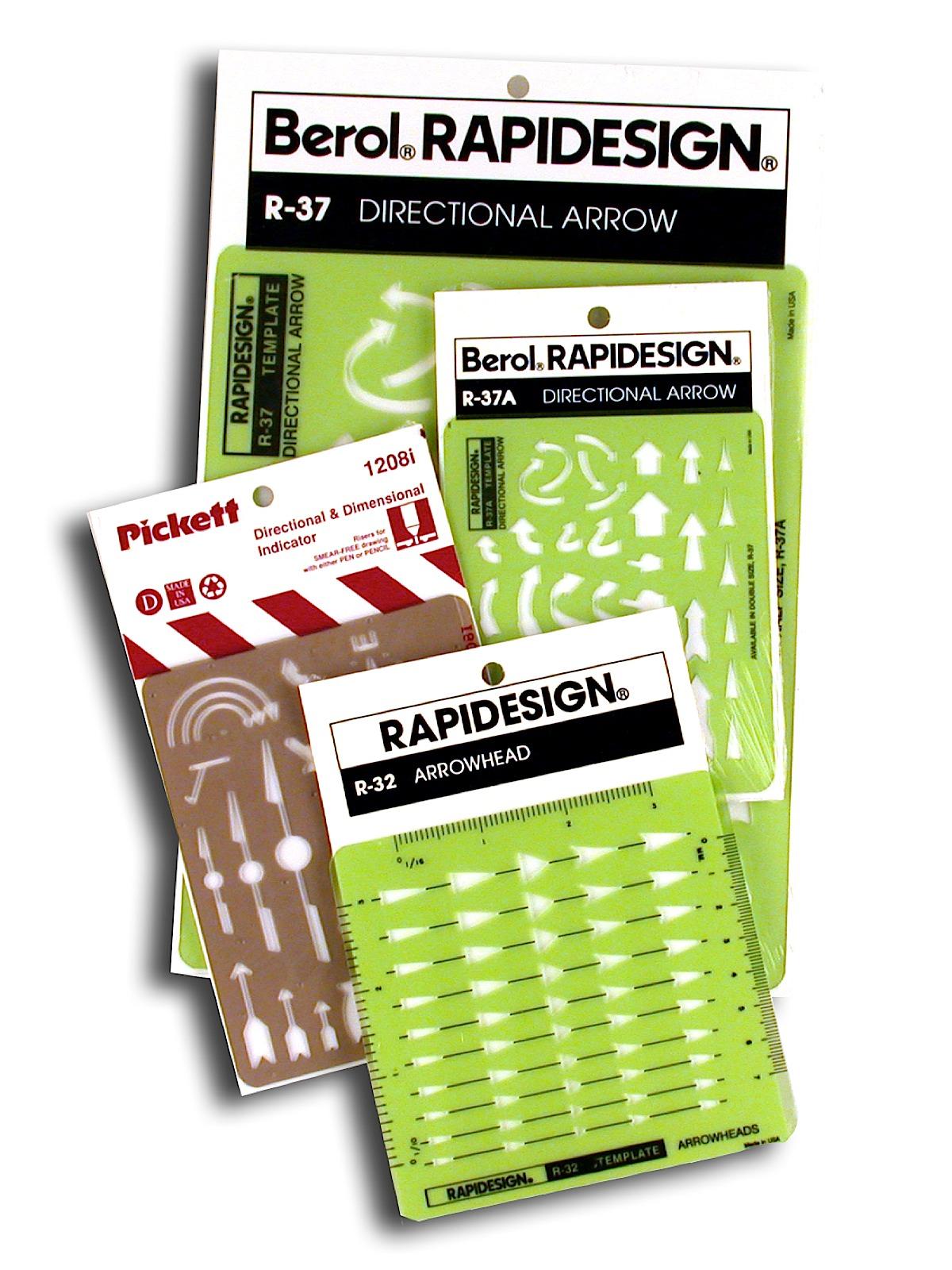 Civil Engineers Radius Guide R-127 Berol Rapidesign Template